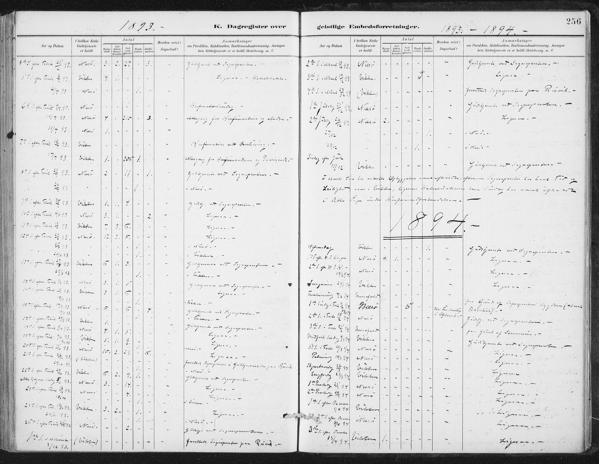 SAT, Ministerialprotokoller, klokkerbøker og fødselsregistre - Nord-Trøndelag, 784/L0673: Ministerialbok nr. 784A08, 1888-1899, s. 256