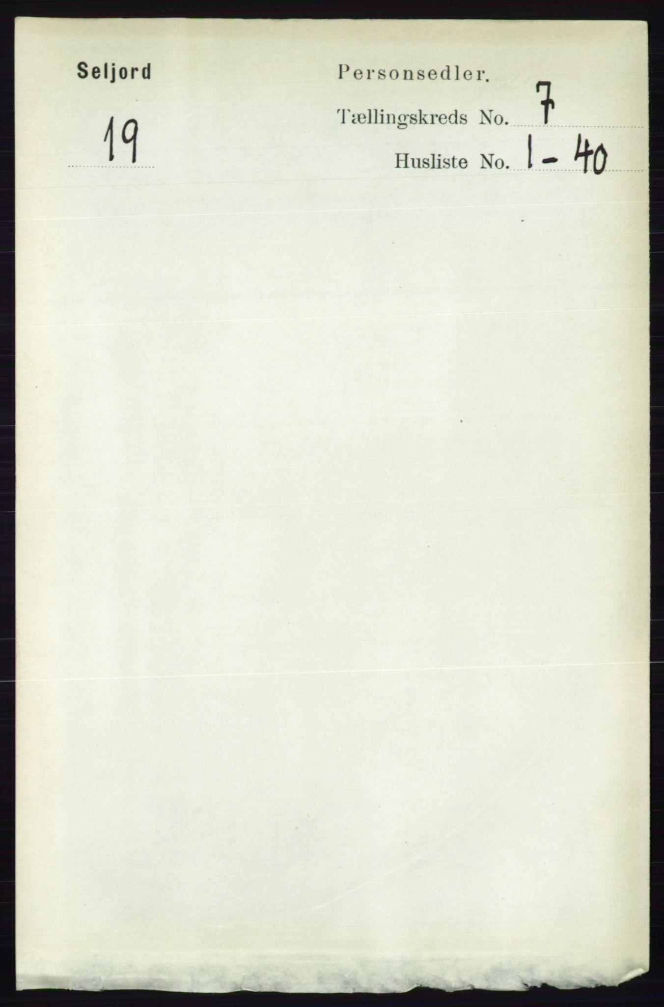 RA, Folketelling 1891 for 0828 Seljord herred, 1891, s. 2605