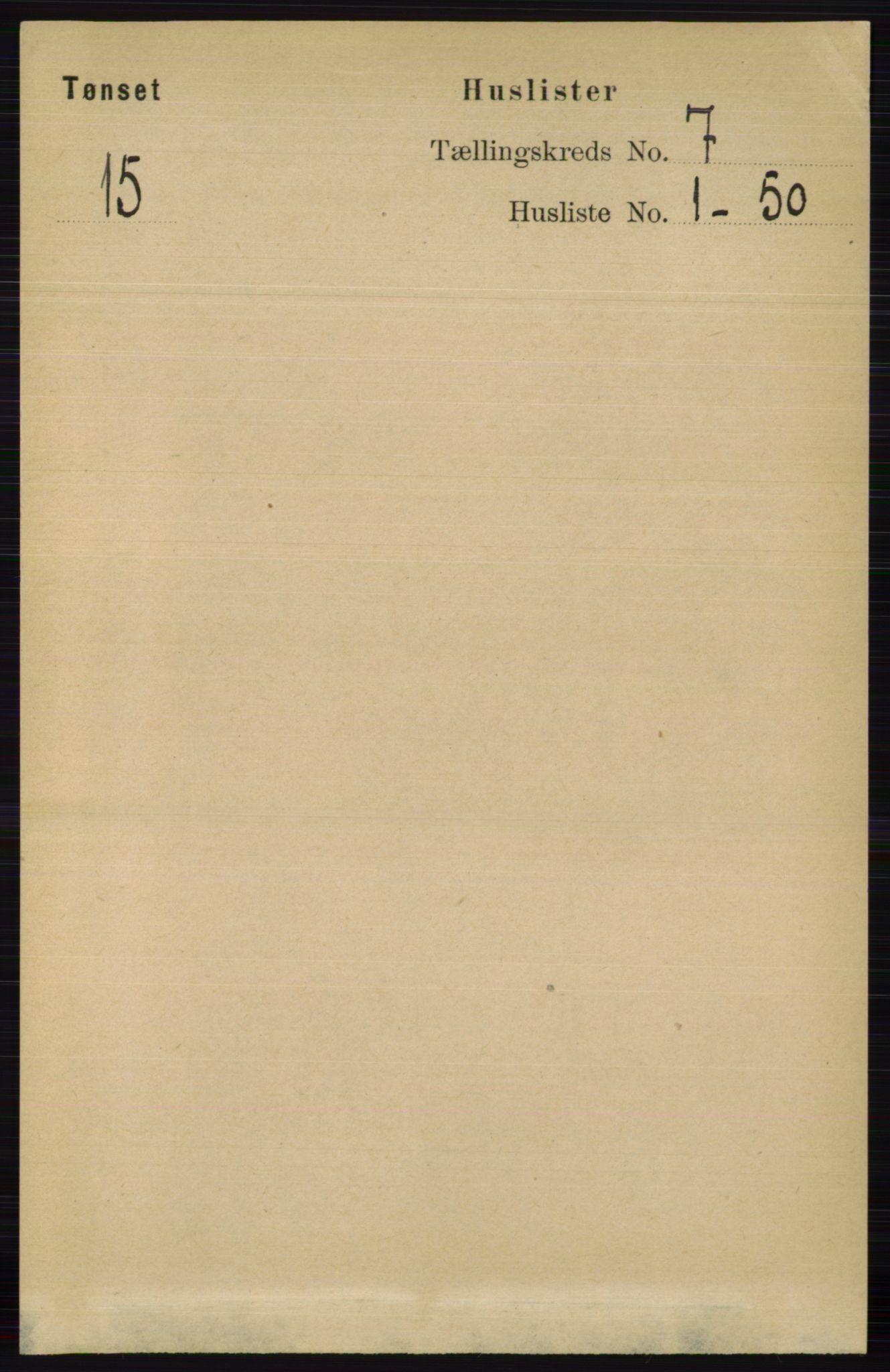RA, Folketelling 1891 for 0437 Tynset herred, 1891, s. 1667