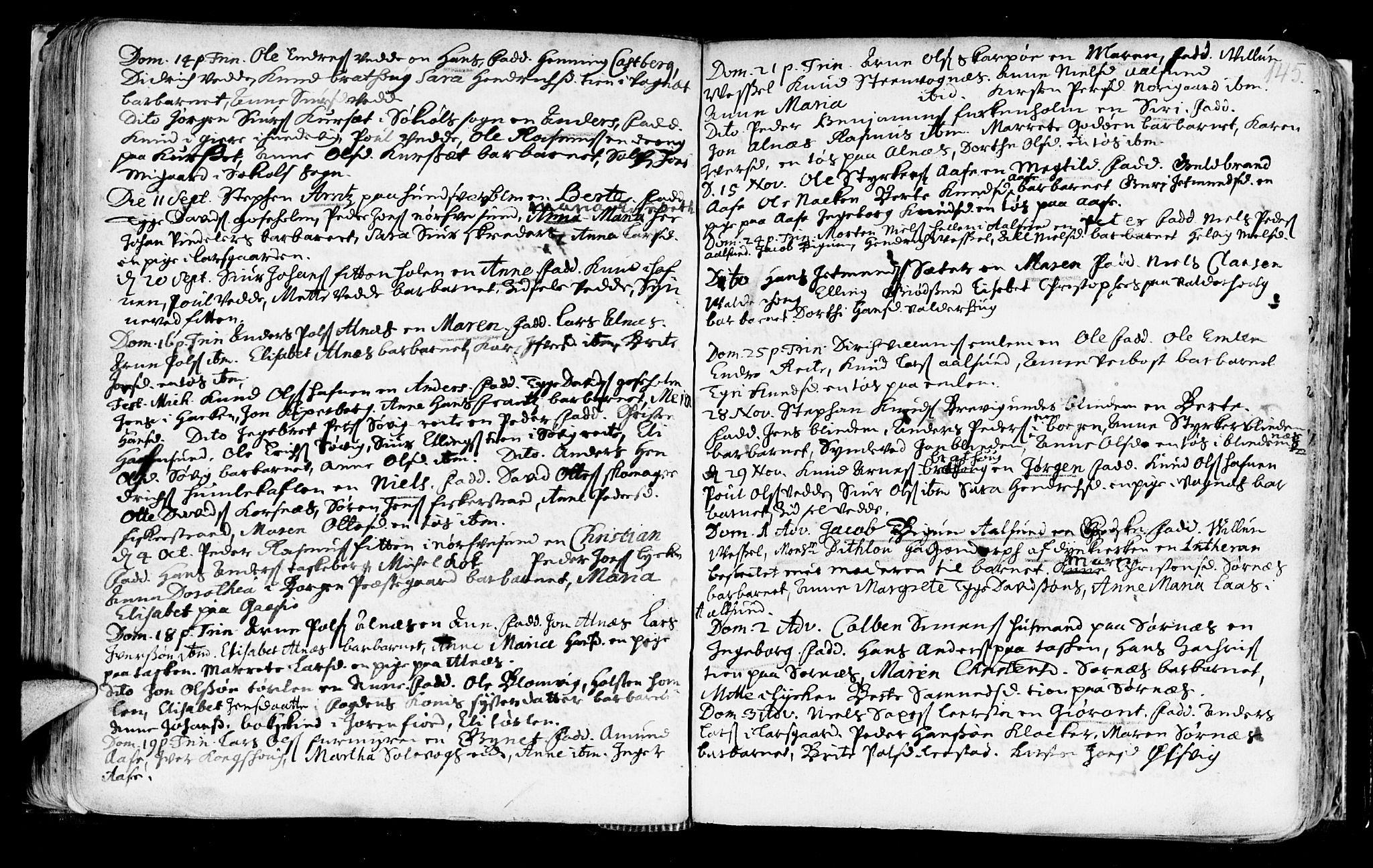 SAT, Ministerialprotokoller, klokkerbøker og fødselsregistre - Møre og Romsdal, 528/L0390: Ministerialbok nr. 528A01, 1698-1739, s. 144-145