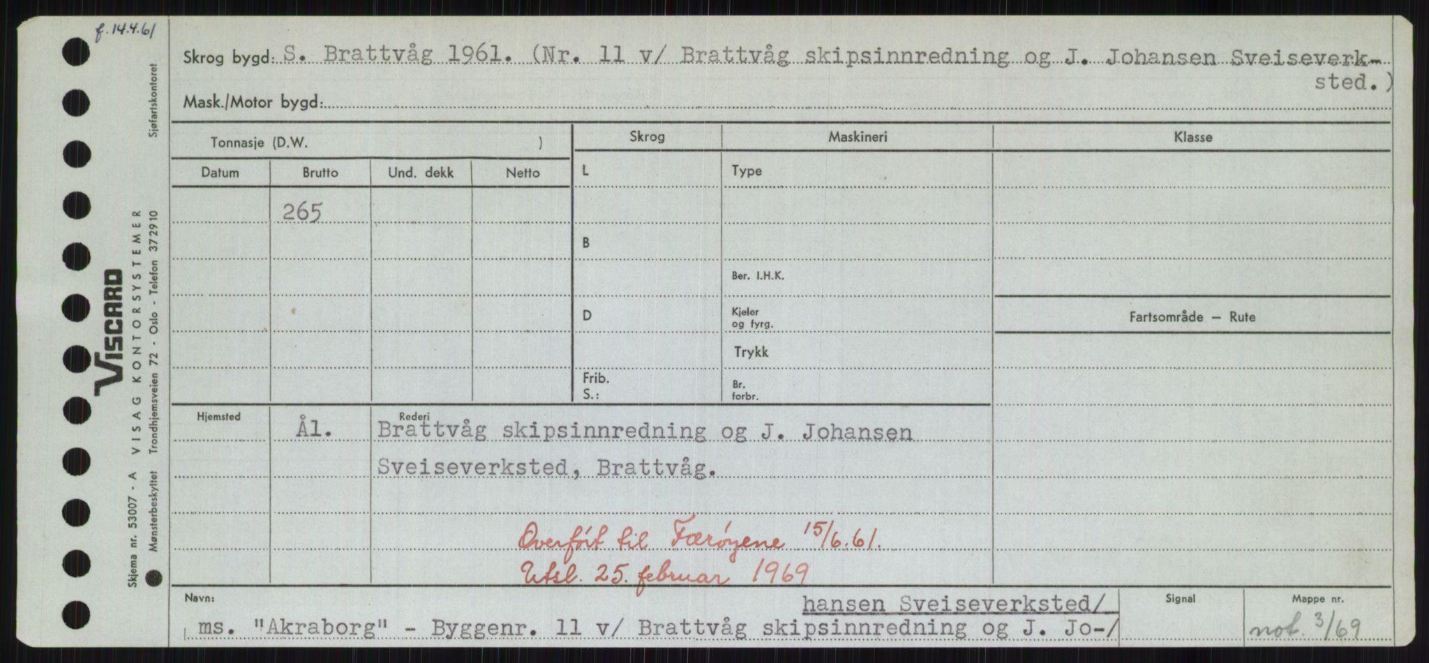 RA, Sjøfartsdirektoratet med forløpere, Skipsmålingen, H/Hd/L0001: Fartøy, A-Anv, s. 199