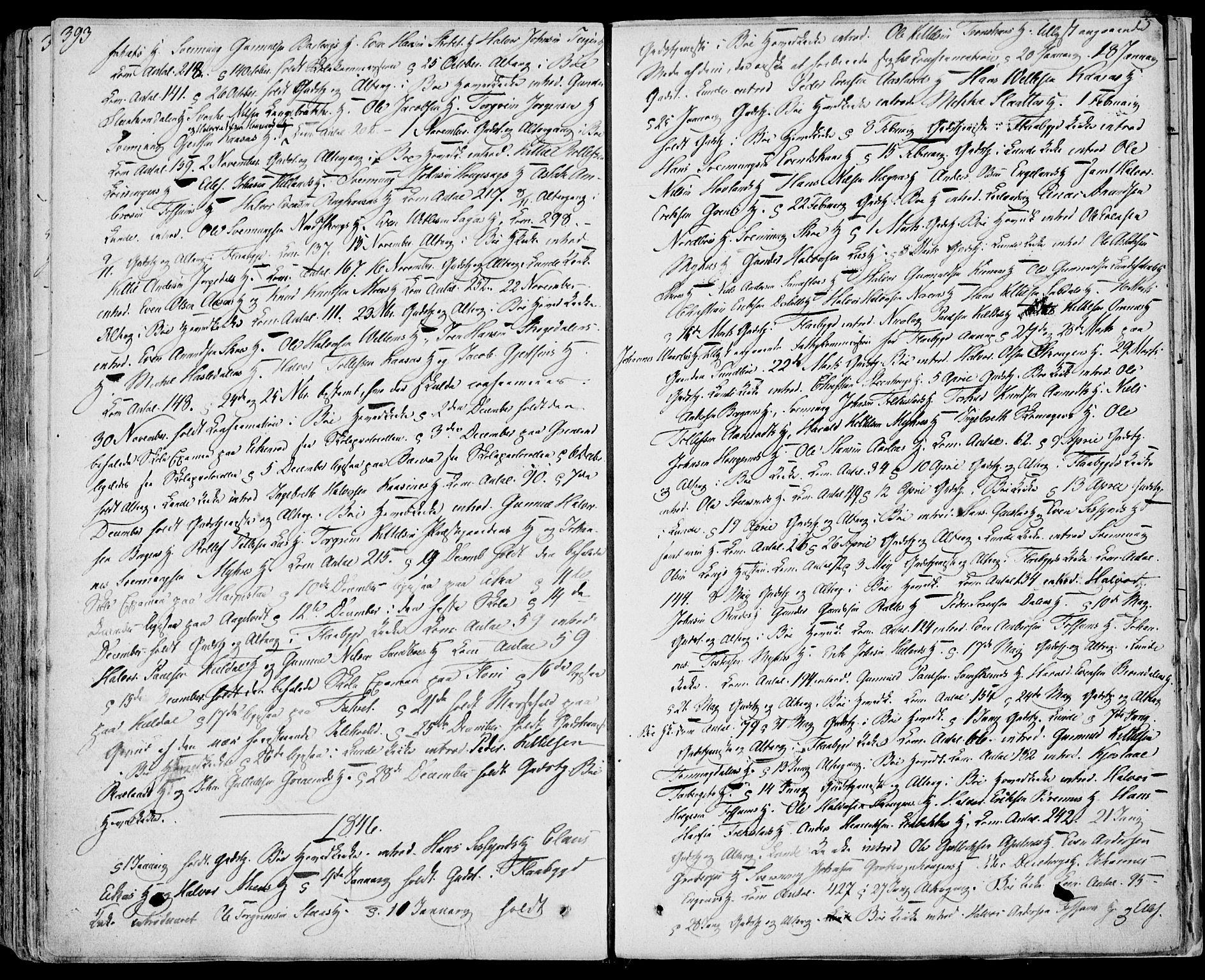 SAKO, Bø kirkebøker, F/Fa/L0007: Ministerialbok nr. 7, 1831-1848, s. 393