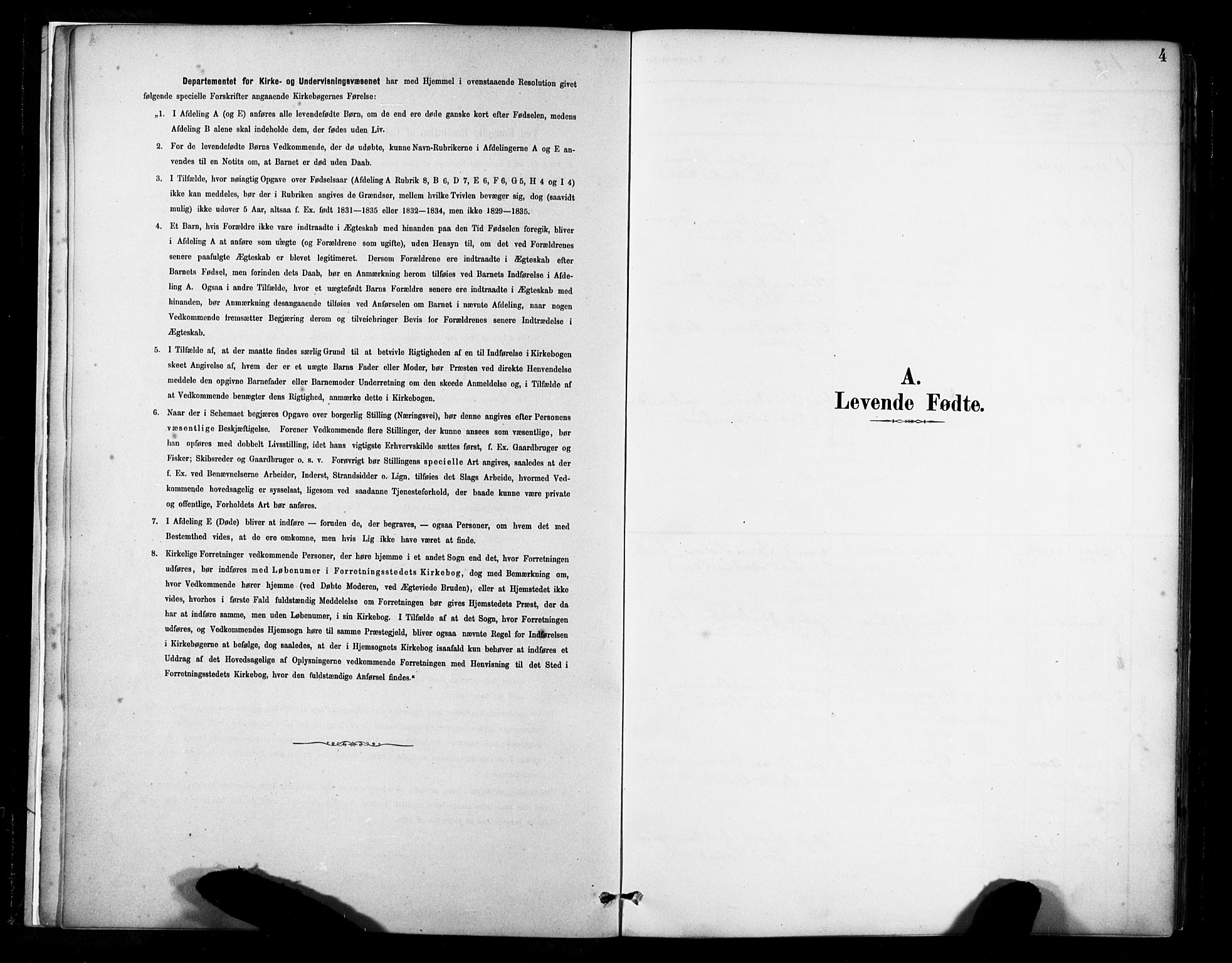 SAST, Lund sokneprestkontor, Ministerialbok nr. A 11, 1887-1921, s. 4