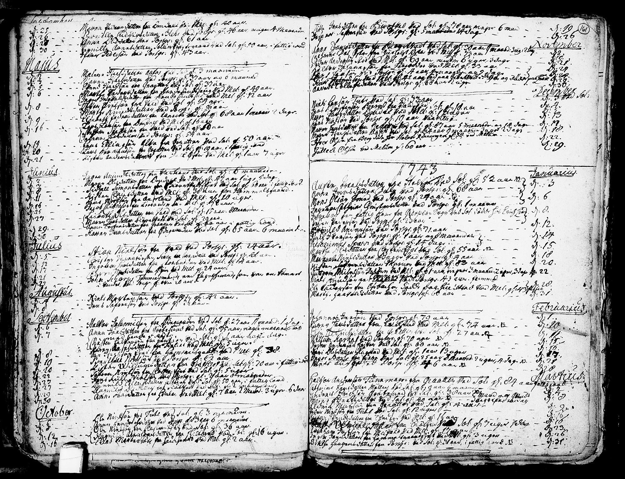 SAKO, Solum kirkebøker, F/Fa/L0002: Ministerialbok nr. I 2, 1713-1761, s. 161