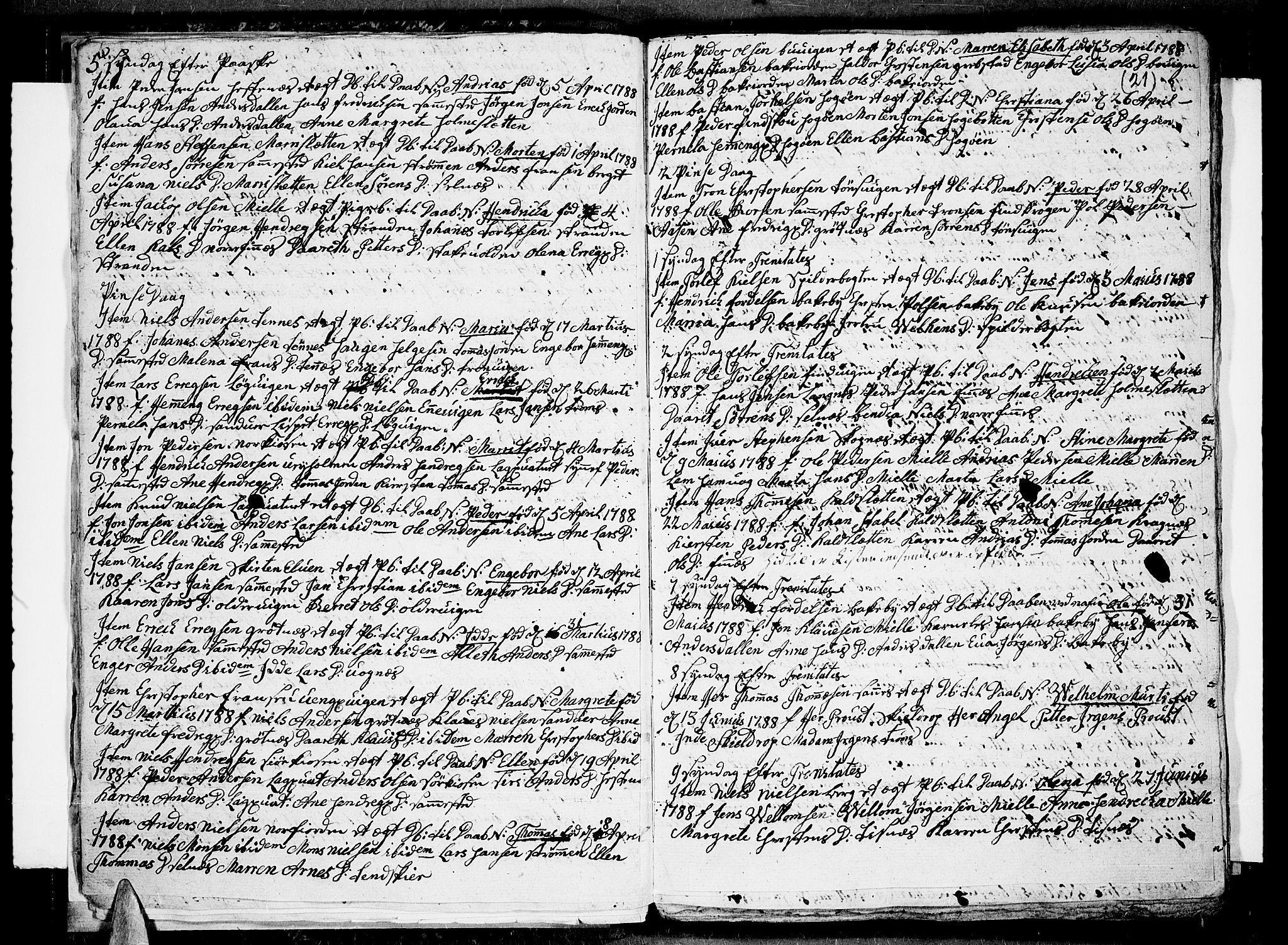 SATØ, Tromsø sokneprestkontor/stiftsprosti/domprosti, G/Ga/L0004kirke: Ministerialbok nr. 4, 1787-1795, s. 21