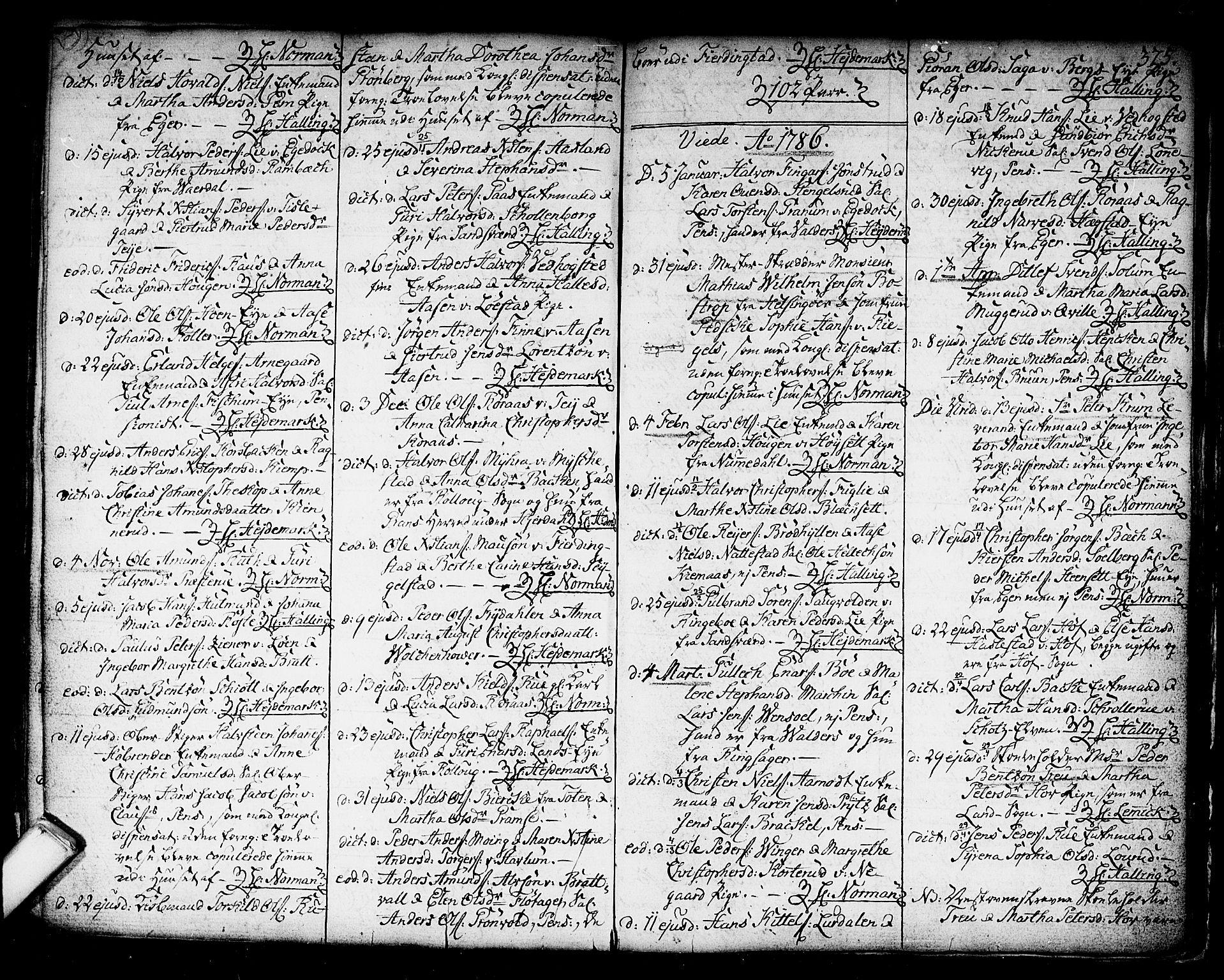 SAKO, Kongsberg kirkebøker, F/Fa/L0006: Ministerialbok nr. I 6, 1783-1797, s. 375