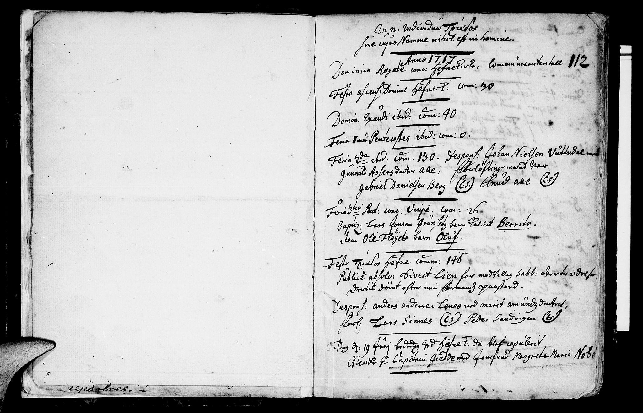 SAT, Ministerialprotokoller, klokkerbøker og fødselsregistre - Sør-Trøndelag, 630/L0488: Ministerialbok nr. 630A01, 1717-1756, s. 0-1
