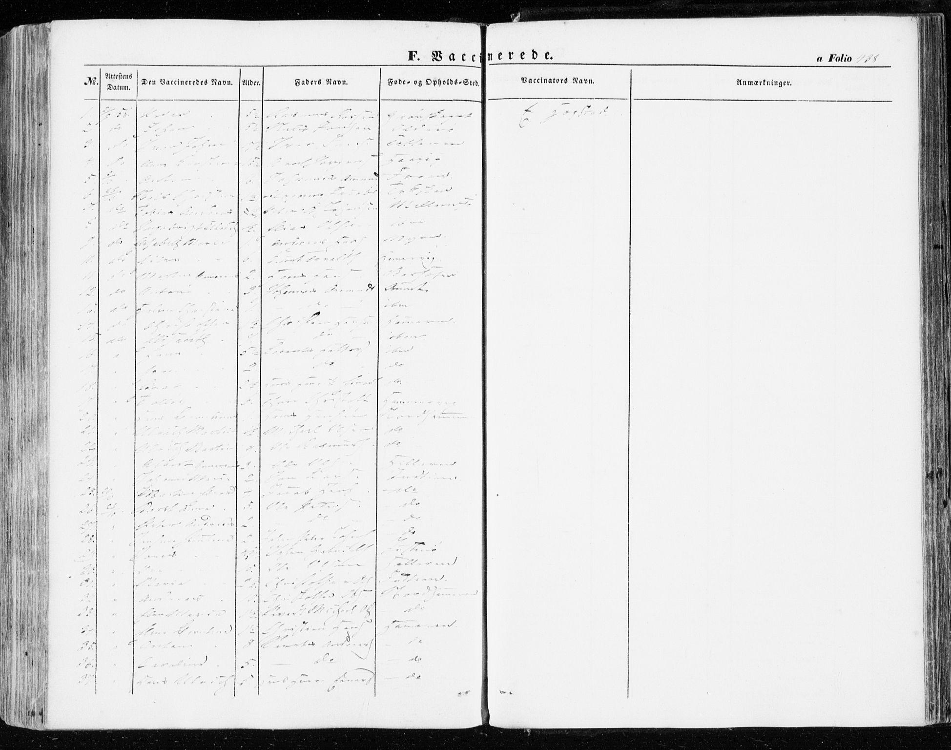 SAT, Ministerialprotokoller, klokkerbøker og fødselsregistre - Sør-Trøndelag, 634/L0530: Ministerialbok nr. 634A06, 1852-1860, s. 438