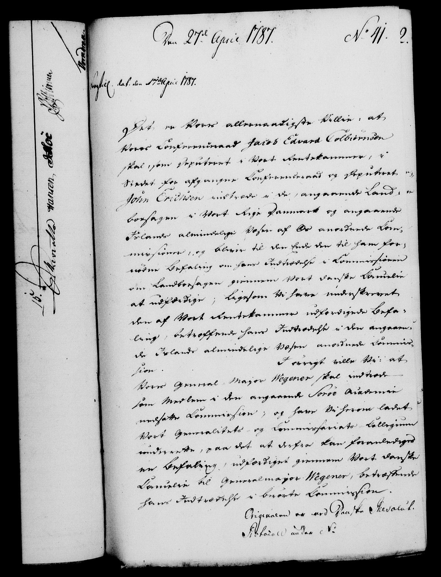 RA, Rentekammeret, Kammerkanselliet, G/Gf/Gfa/L0069: Norsk relasjons- og resolusjonsprotokoll (merket RK 52.69), 1787, s. 324