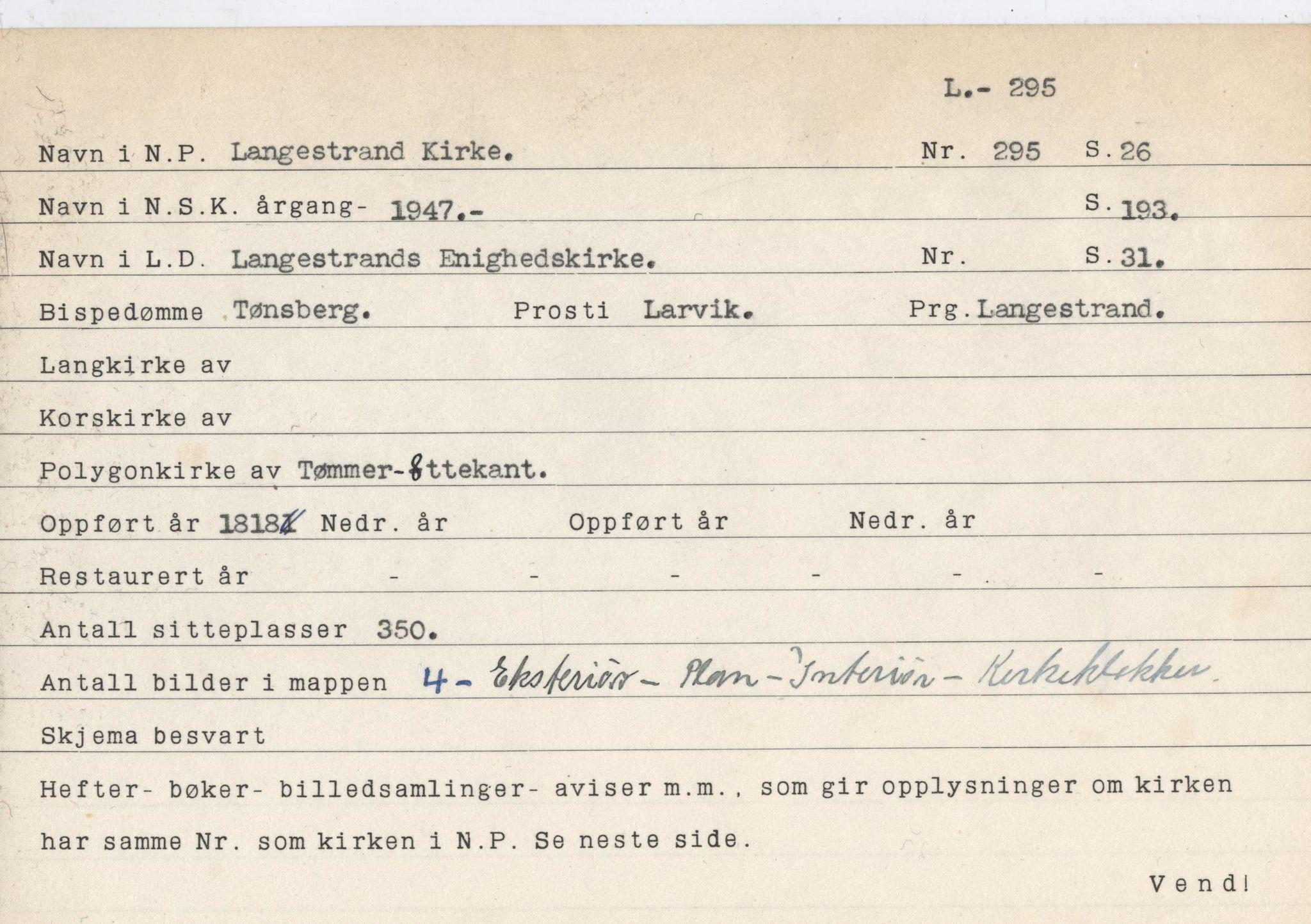 VEMU, Pa 774 - Falch, Søren, C/L0002: I - R, 1945-1950
