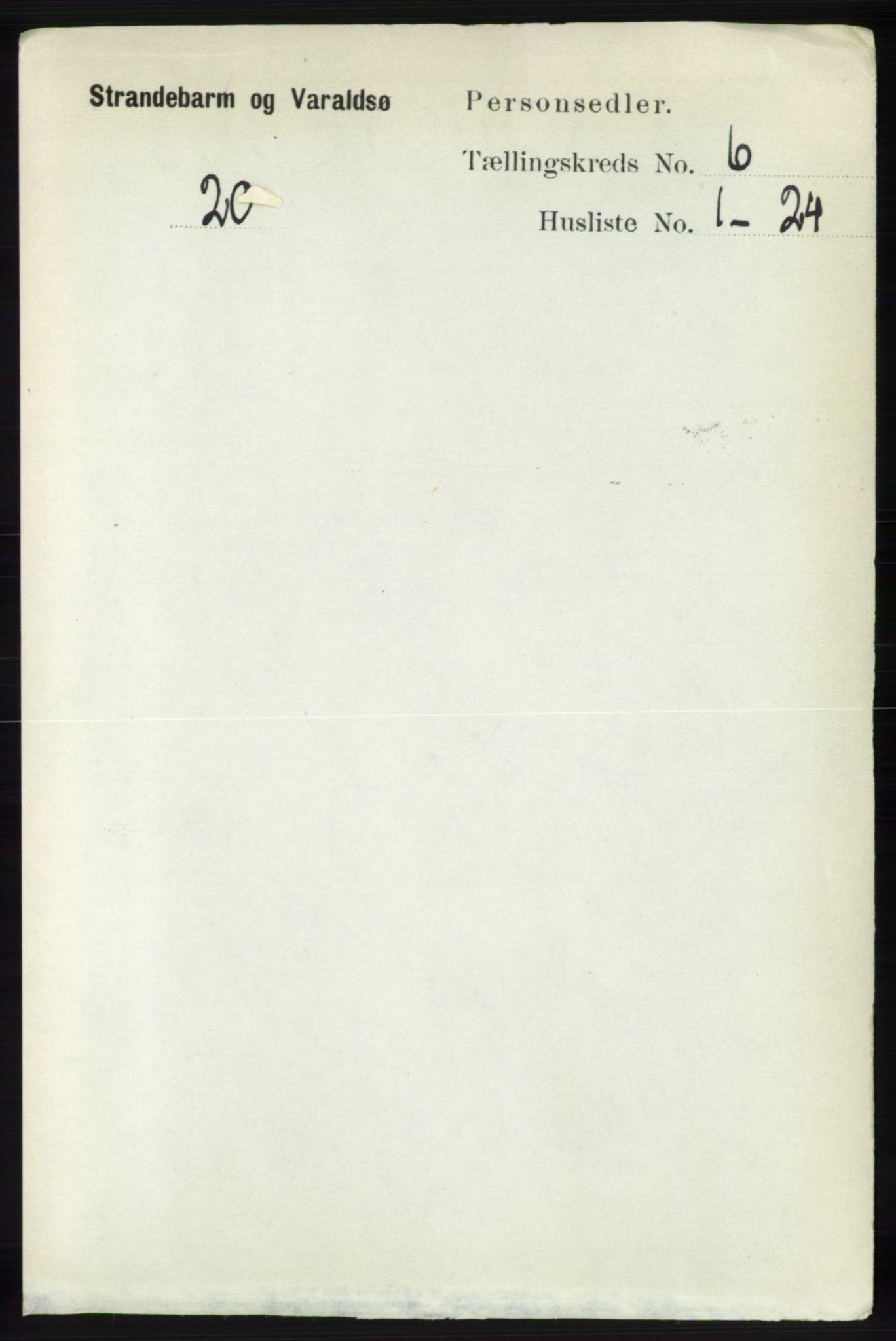 RA, Folketelling 1891 for 1226 Strandebarm og Varaldsøy herred, 1891, s. 2429