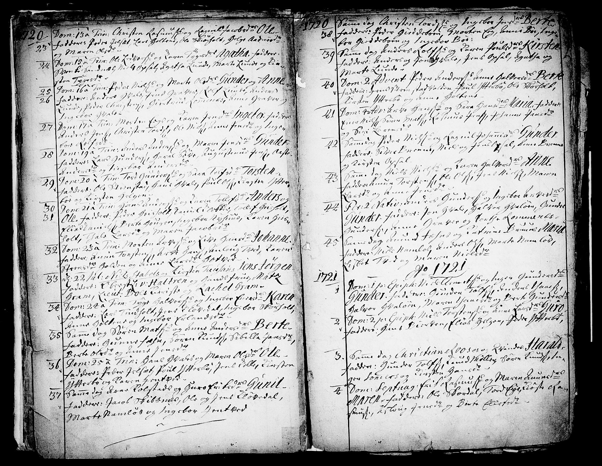 SAKO, Holla kirkebøker, F/Fa/L0001: Ministerialbok nr. 1, 1717-1779, s. 6