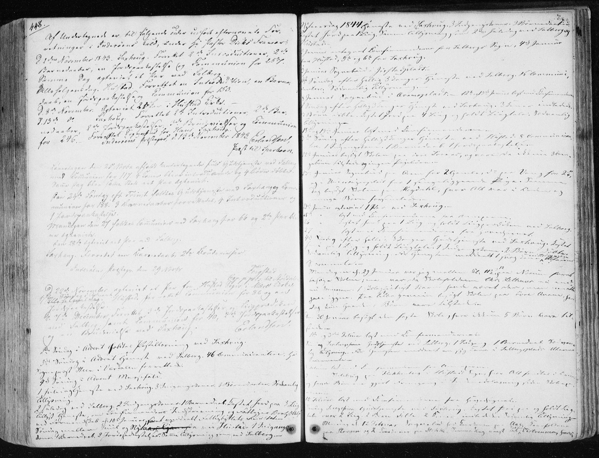 SAT, Ministerialprotokoller, klokkerbøker og fødselsregistre - Nord-Trøndelag, 730/L0280: Ministerialbok nr. 730A07 /1, 1840-1854, s. 448