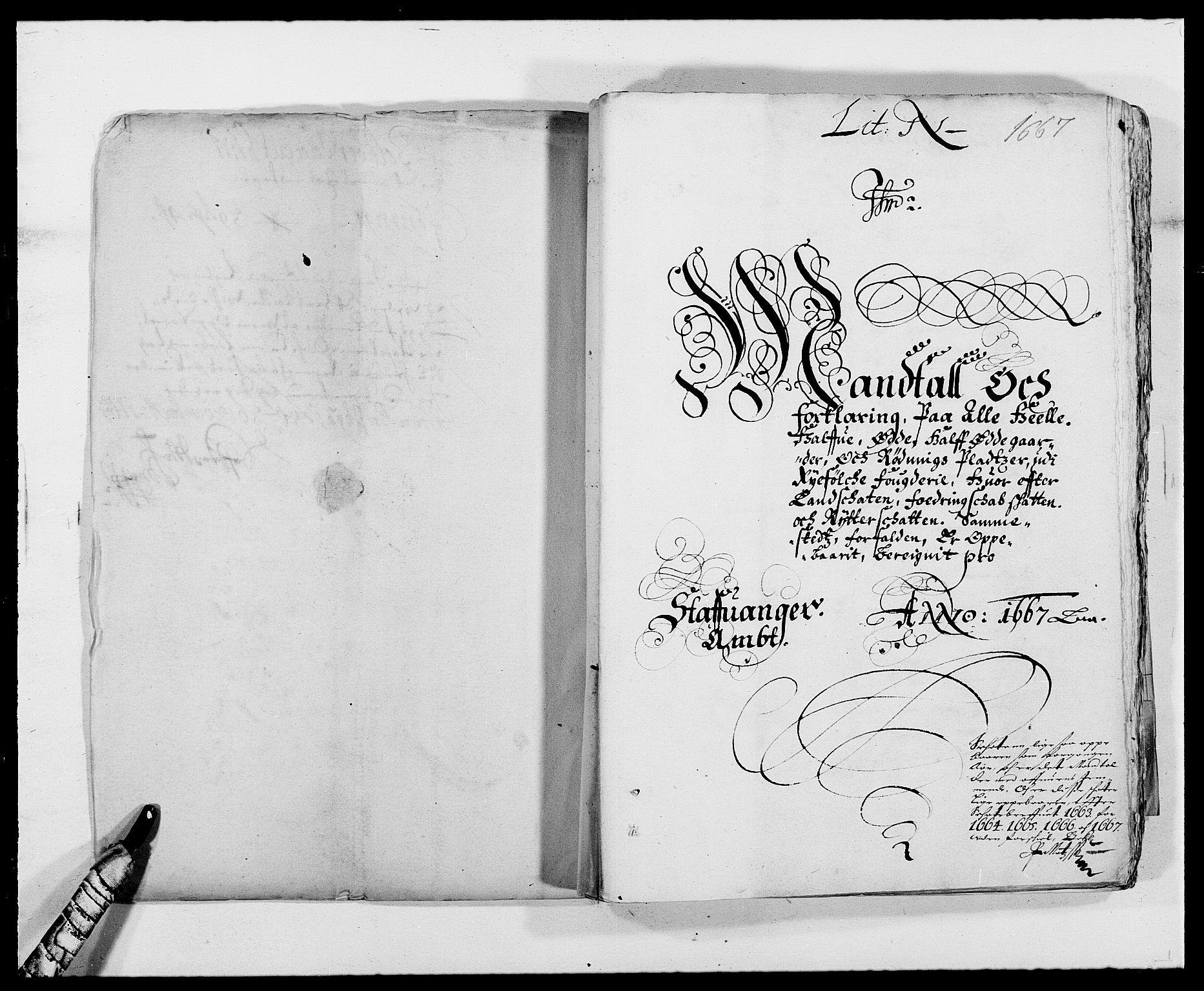 RA, Rentekammeret inntil 1814, Reviderte regnskaper, Fogderegnskap, R47/L2841: Fogderegnskap Ryfylke, 1665-1669, s. 6