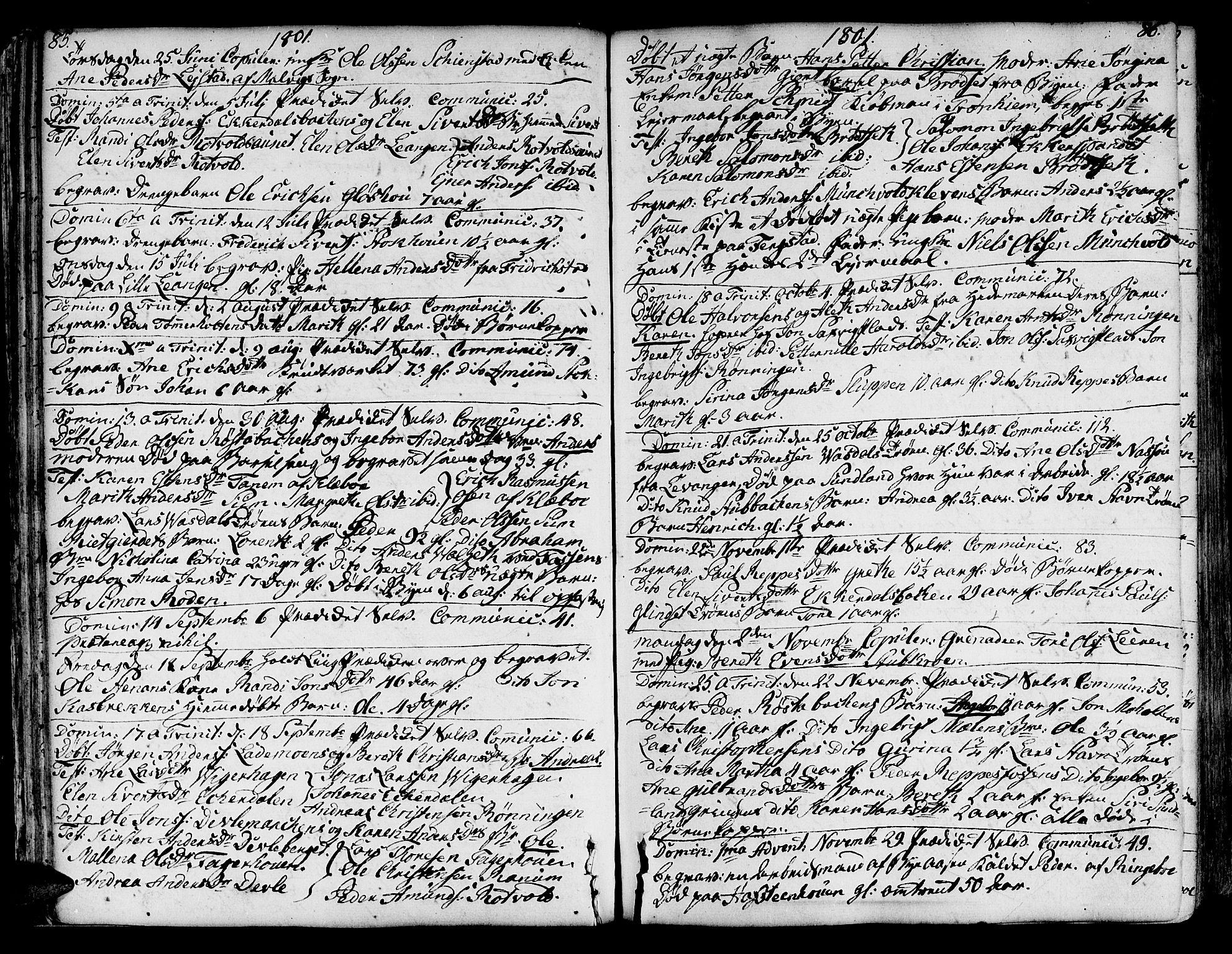 SAT, Ministerialprotokoller, klokkerbøker og fødselsregistre - Sør-Trøndelag, 606/L0280: Ministerialbok nr. 606A02 /1, 1781-1817, s. 85-86