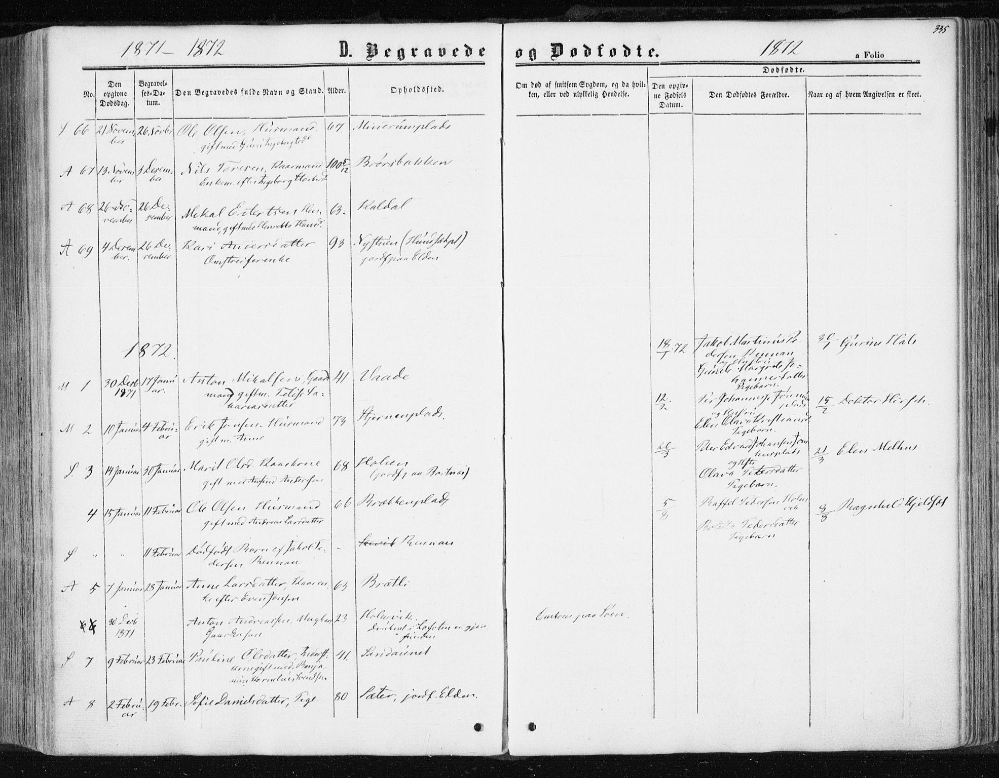 SAT, Ministerialprotokoller, klokkerbøker og fødselsregistre - Nord-Trøndelag, 741/L0394: Ministerialbok nr. 741A08, 1864-1877, s. 335