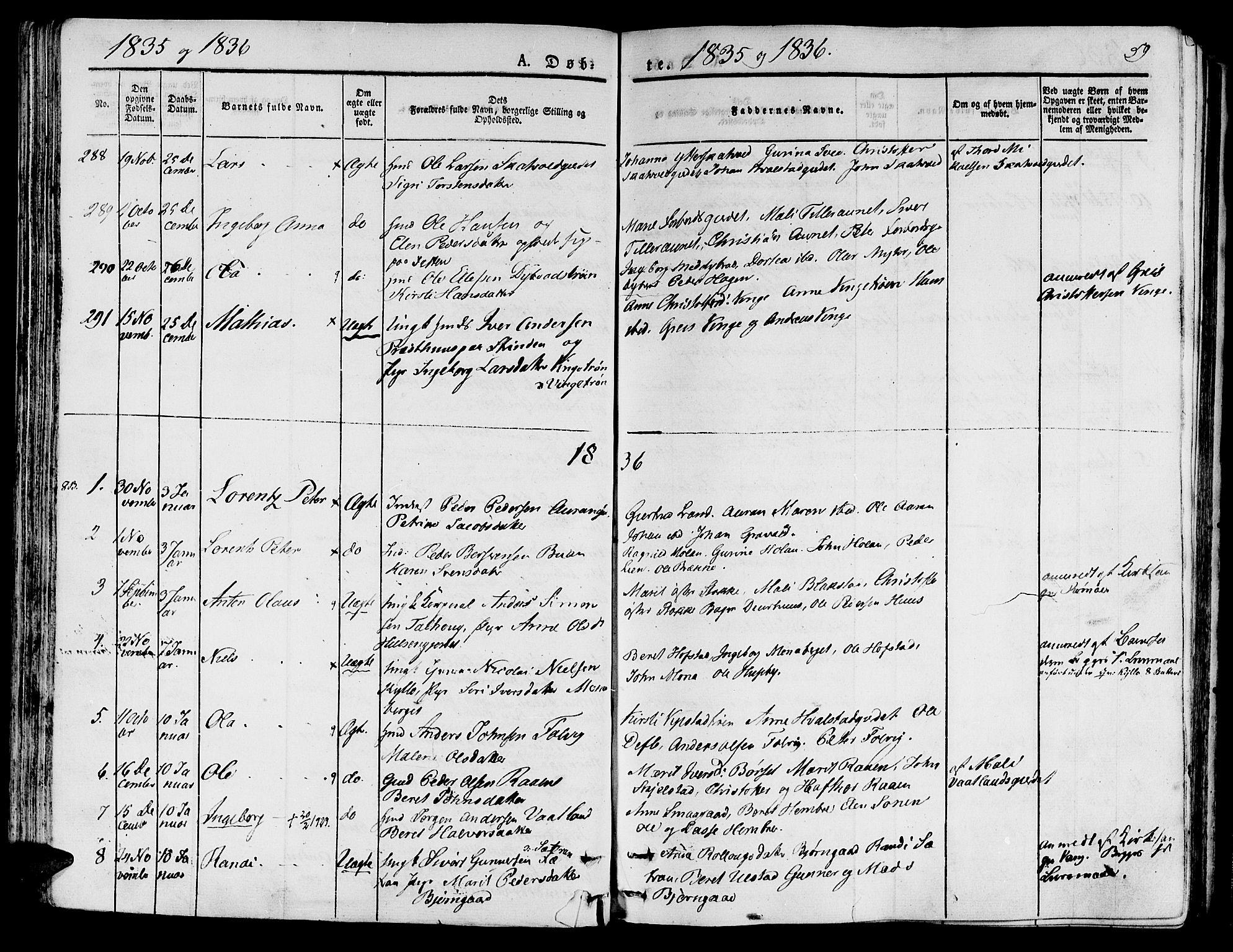SAT, Ministerialprotokoller, klokkerbøker og fødselsregistre - Nord-Trøndelag, 709/L0071: Ministerialbok nr. 709A11, 1833-1844, s. 59