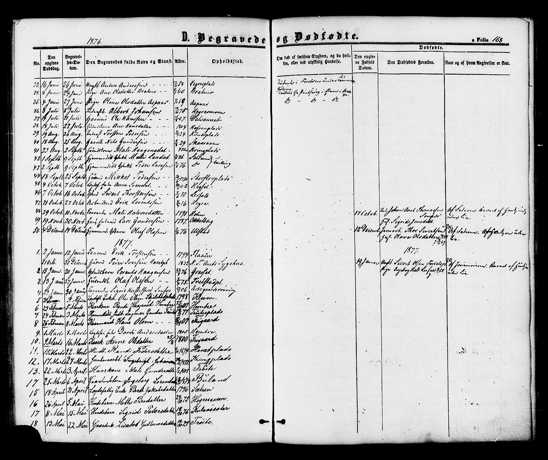 SAT, Ministerialprotokoller, klokkerbøker og fødselsregistre - Nord-Trøndelag, 703/L0029: Ministerialbok nr. 703A02, 1863-1879, s. 168