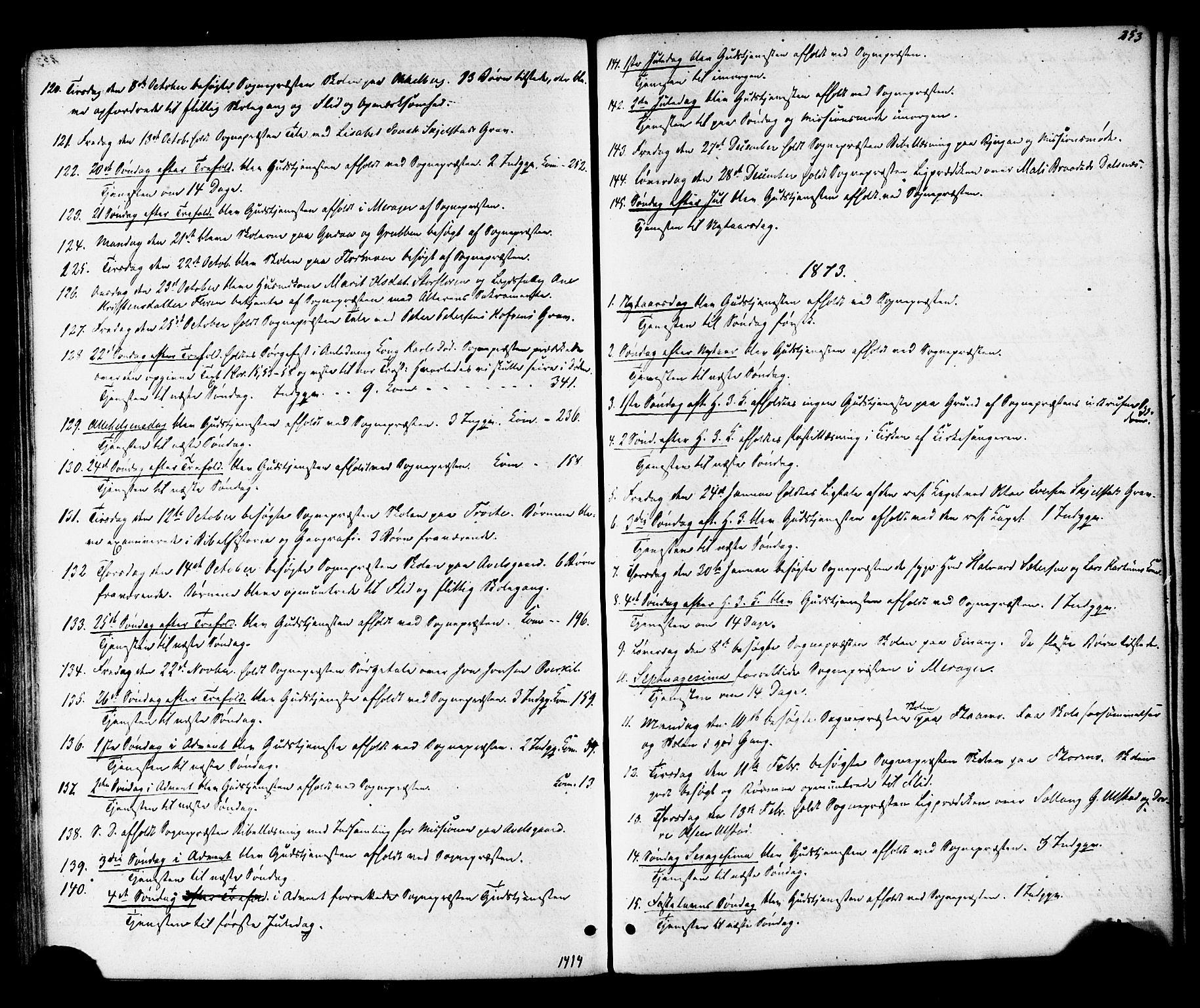SAT, Ministerialprotokoller, klokkerbøker og fødselsregistre - Nord-Trøndelag, 703/L0029: Ministerialbok nr. 703A02, 1863-1879, s. 253