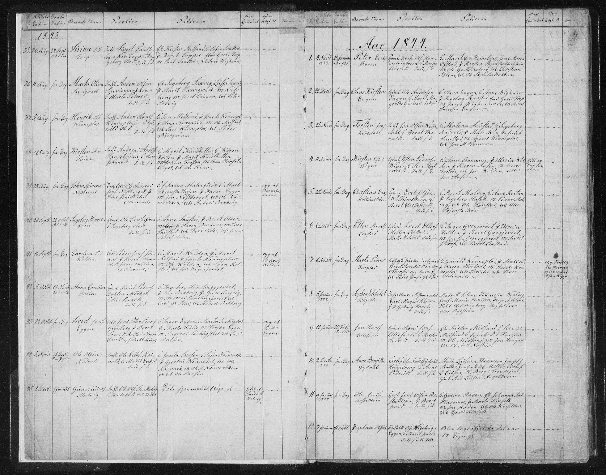 SAT, Ministerialprotokoller, klokkerbøker og fødselsregistre - Sør-Trøndelag, 616/L0406: Ministerialbok nr. 616A03, 1843-1879, s. 4