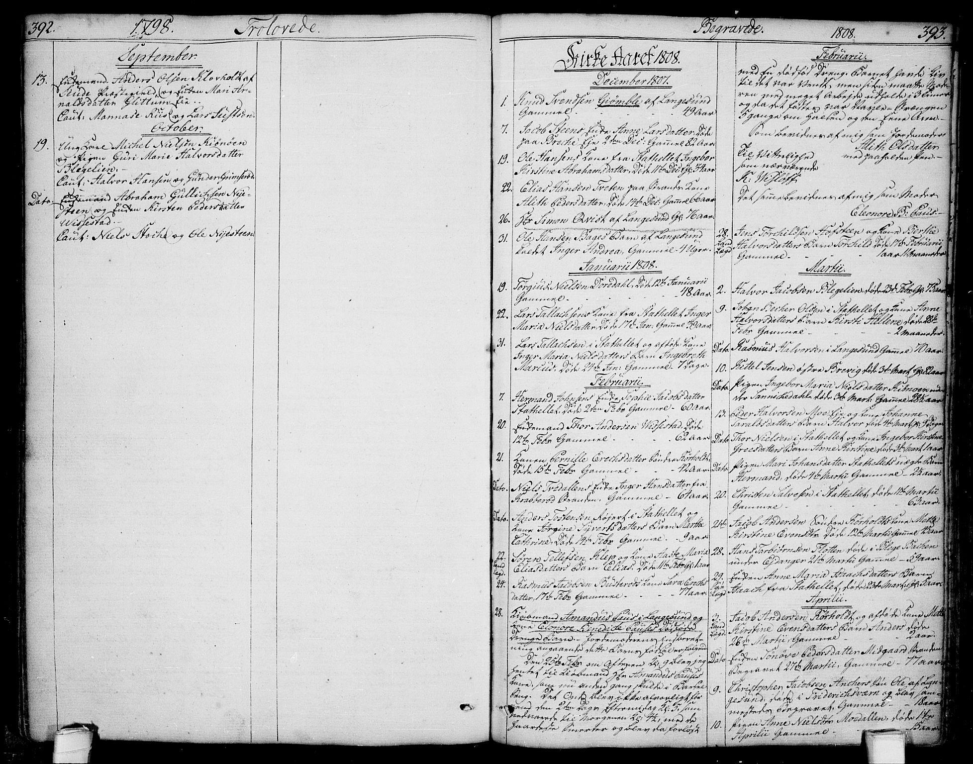 SAKO, Bamble kirkebøker, F/Fa/L0002: Ministerialbok nr. I 2, 1775-1814, s. 392-393