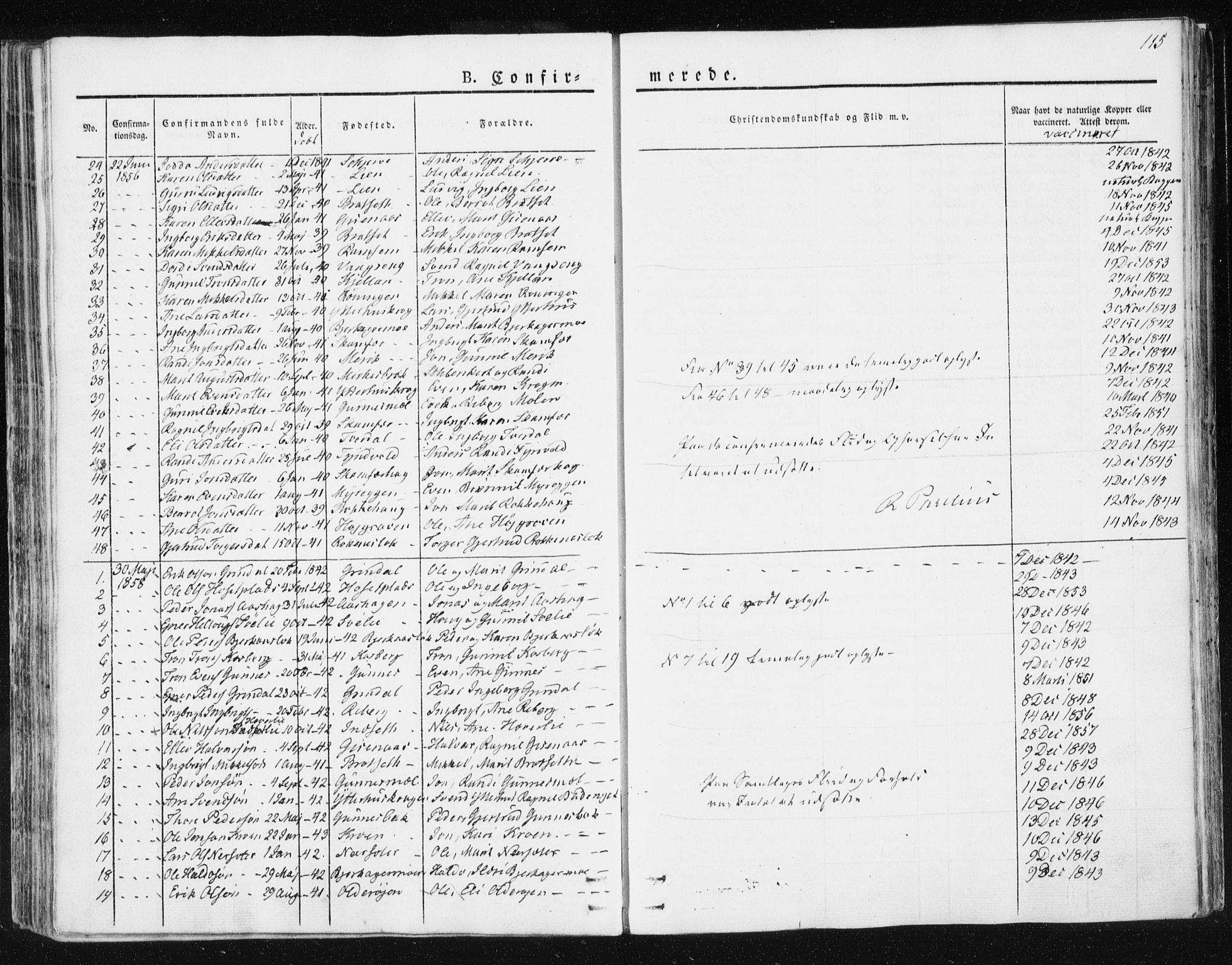 SAT, Ministerialprotokoller, klokkerbøker og fødselsregistre - Sør-Trøndelag, 674/L0869: Ministerialbok nr. 674A01, 1829-1860, s. 115
