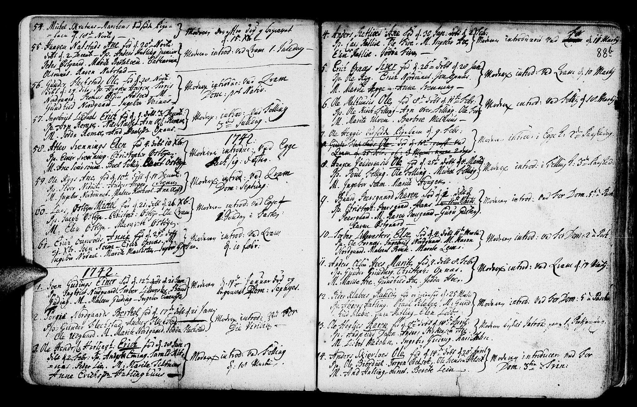 SAT, Ministerialprotokoller, klokkerbøker og fødselsregistre - Nord-Trøndelag, 746/L0439: Ministerialbok nr. 746A01, 1688-1759, s. 88c