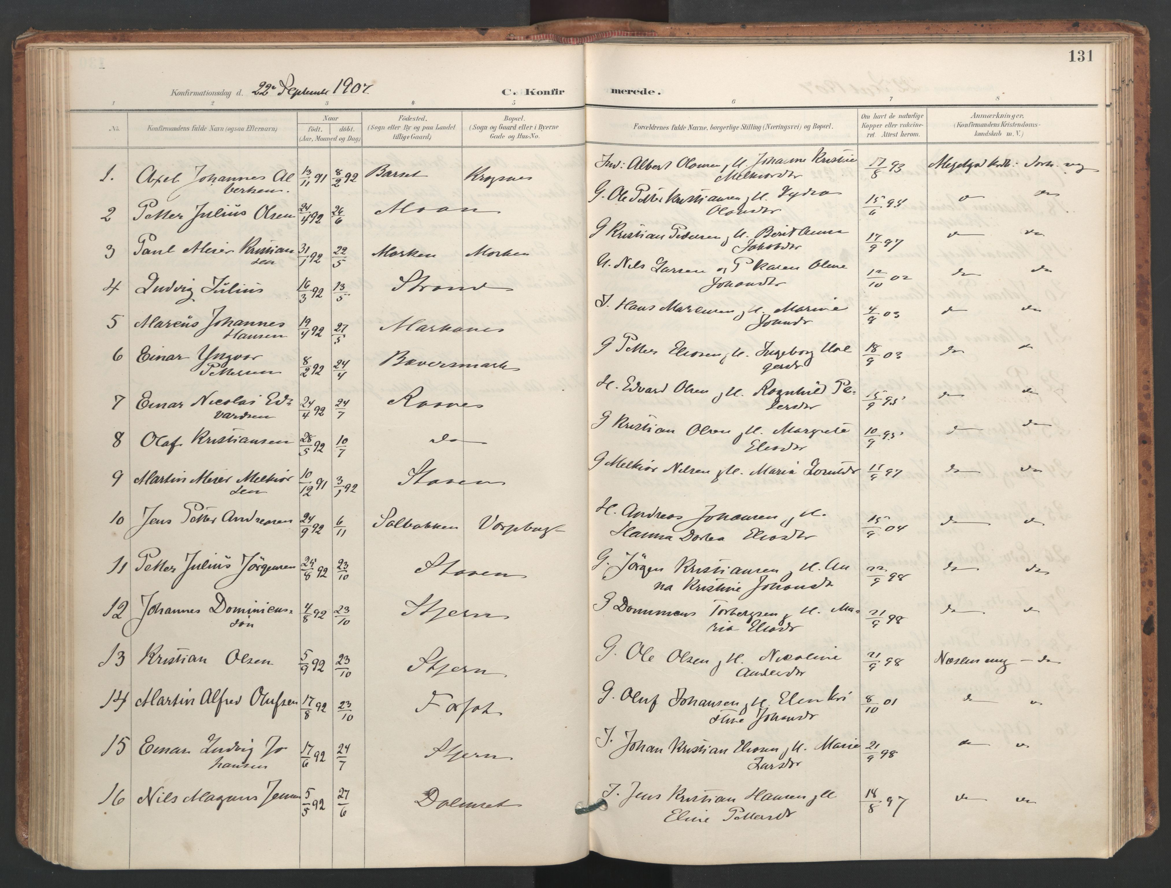 SAT, Ministerialprotokoller, klokkerbøker og fødselsregistre - Sør-Trøndelag, 655/L0681: Ministerialbok nr. 655A10, 1895-1907, s. 131