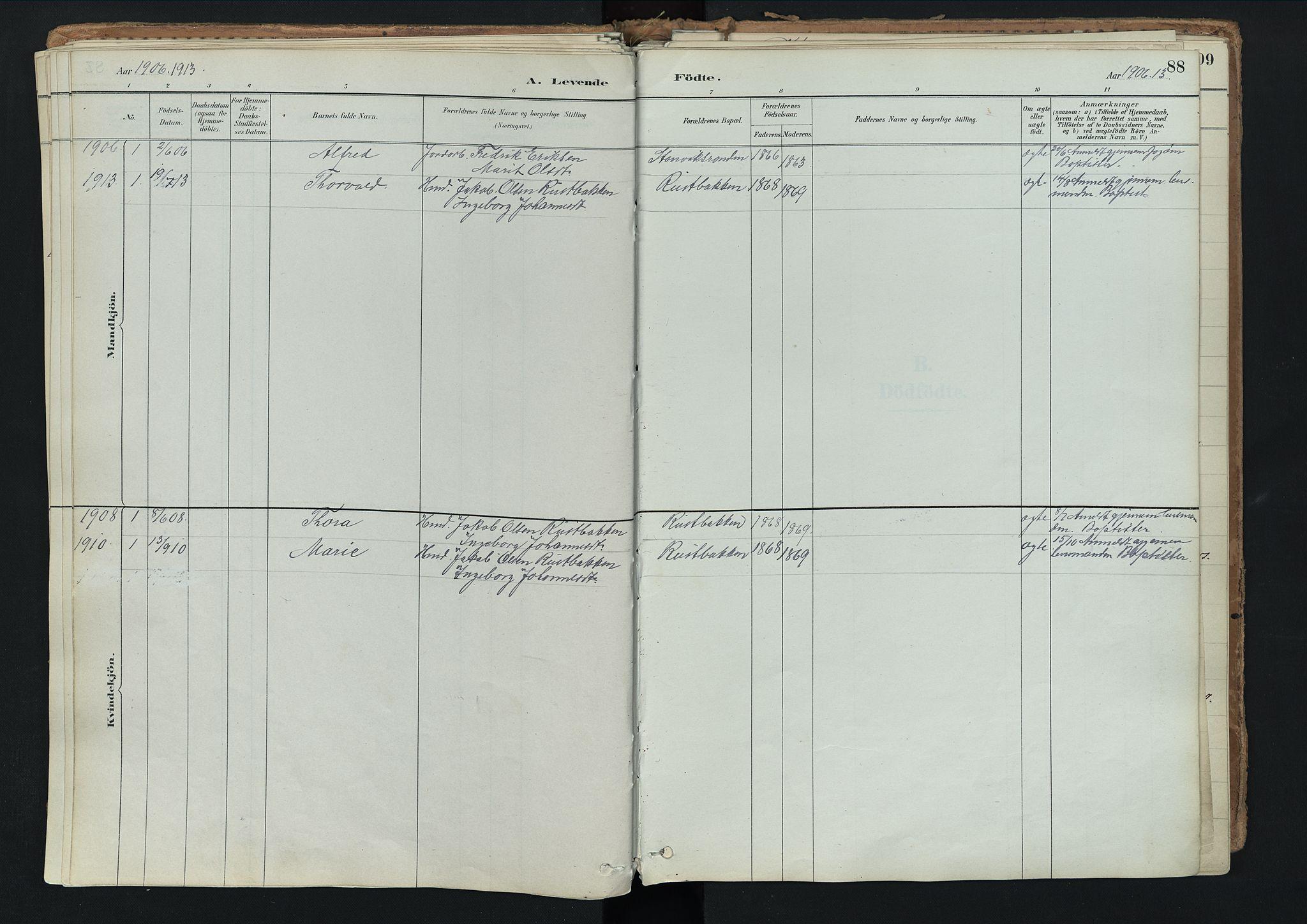 SAH, Nord-Fron prestekontor, Ministerialbok nr. 3, 1884-1914, s. 88