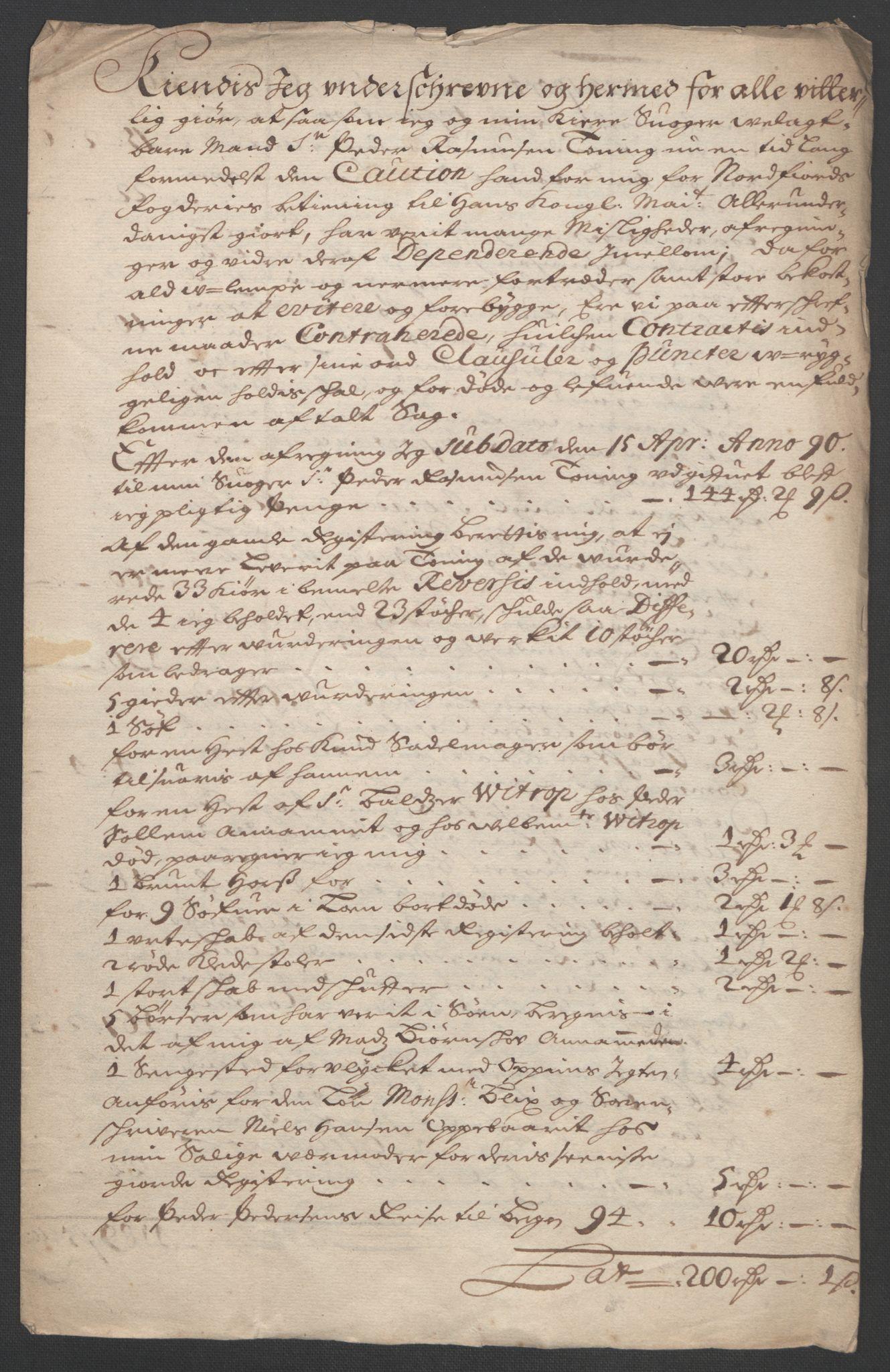 RA, Rentekammeret inntil 1814, Reviderte regnskaper, Fogderegnskap, R53/L3422: Fogderegnskap Sunn- og Nordfjord, 1695-1696, s. 463