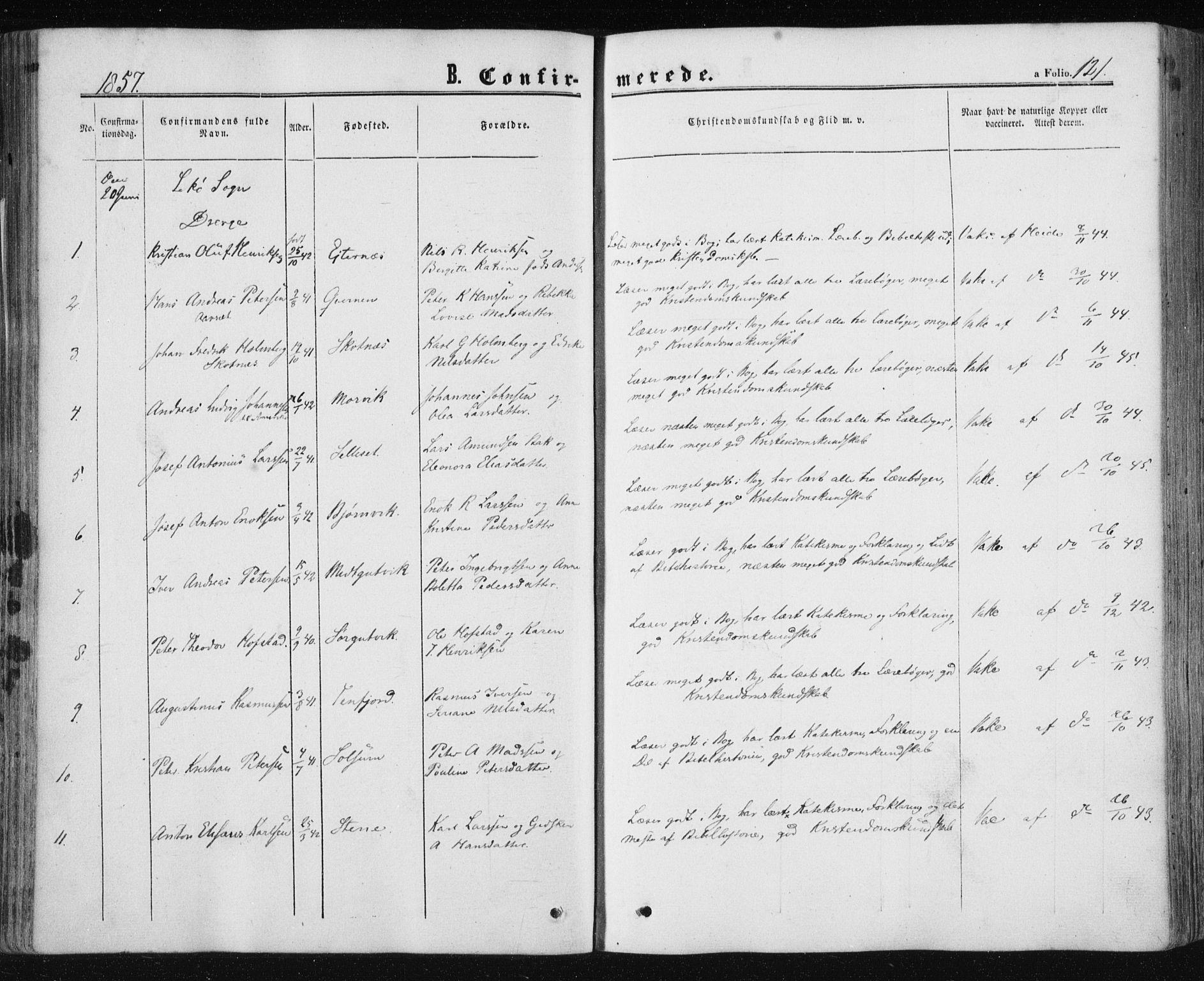SAT, Ministerialprotokoller, klokkerbøker og fødselsregistre - Nord-Trøndelag, 780/L0641: Ministerialbok nr. 780A06, 1857-1874, s. 121