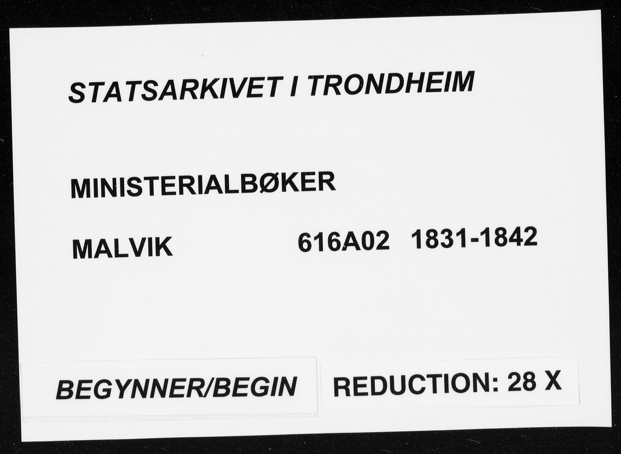 SAT, Ministerialprotokoller, klokkerbøker og fødselsregistre - Sør-Trøndelag, 616/L0405: Ministerialbok nr. 616A02, 1831-1842
