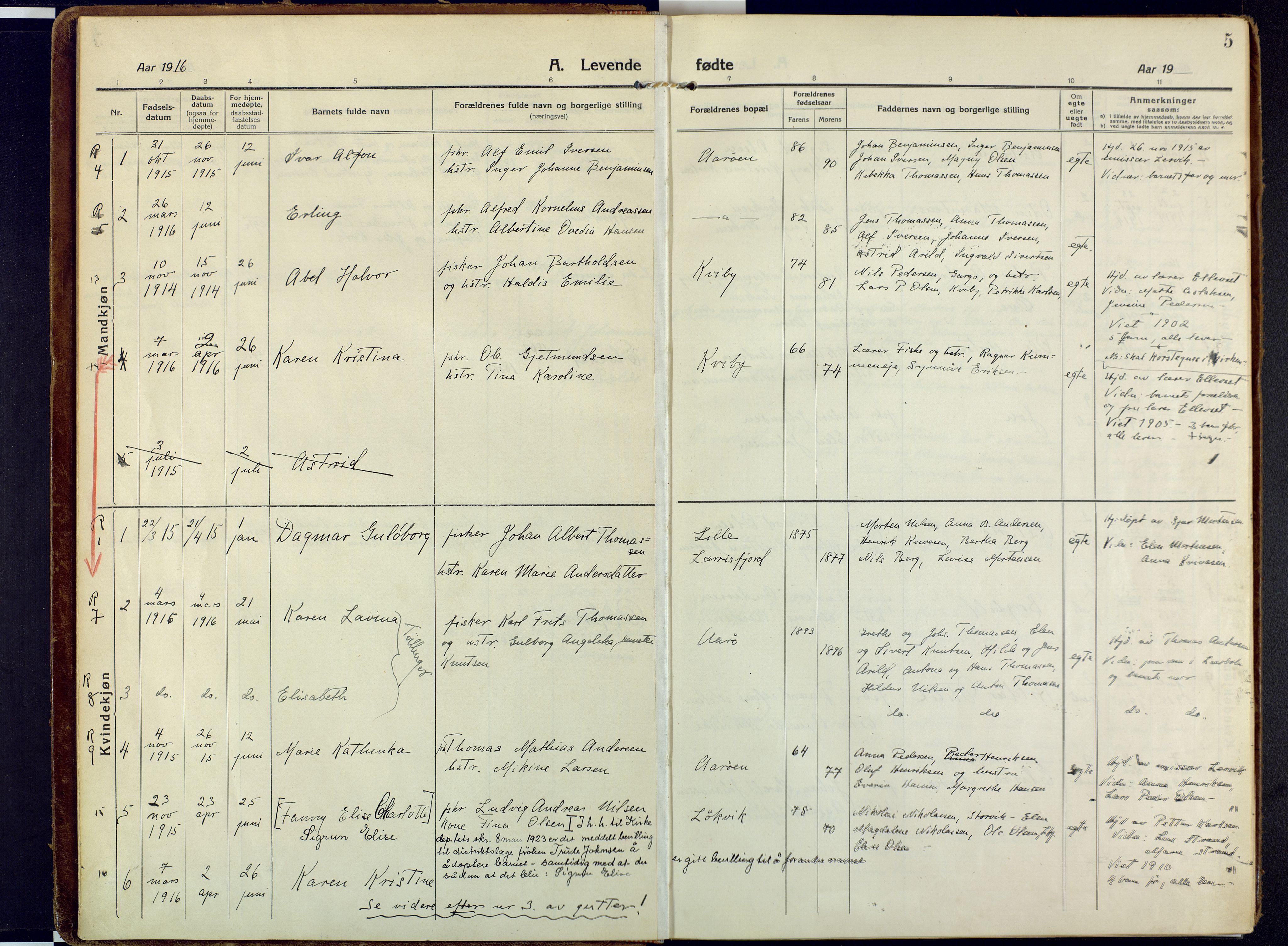 SATØ, Talvik sokneprestkontor, H/Ha/L0018kirke: Ministerialbok nr. 18, 1915-1924, s. 5