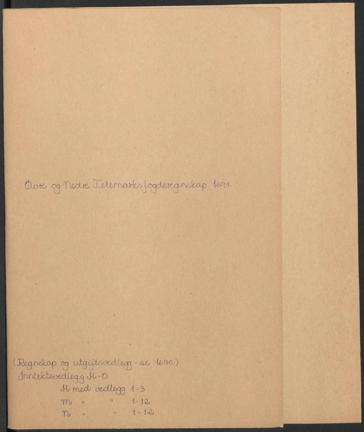 RA, Rentekammeret inntil 1814, Reviderte regnskaper, Fogderegnskap, R35/L2089: Fogderegnskap Øvre og Nedre Telemark, 1690-1692, s. 148