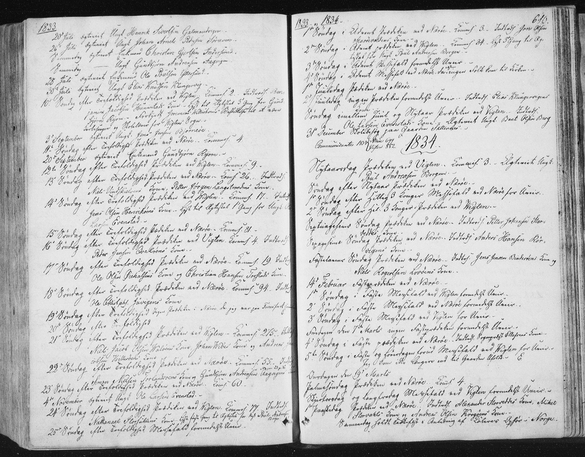 SAT, Ministerialprotokoller, klokkerbøker og fødselsregistre - Nord-Trøndelag, 784/L0669: Ministerialbok nr. 784A04, 1829-1859, s. 610