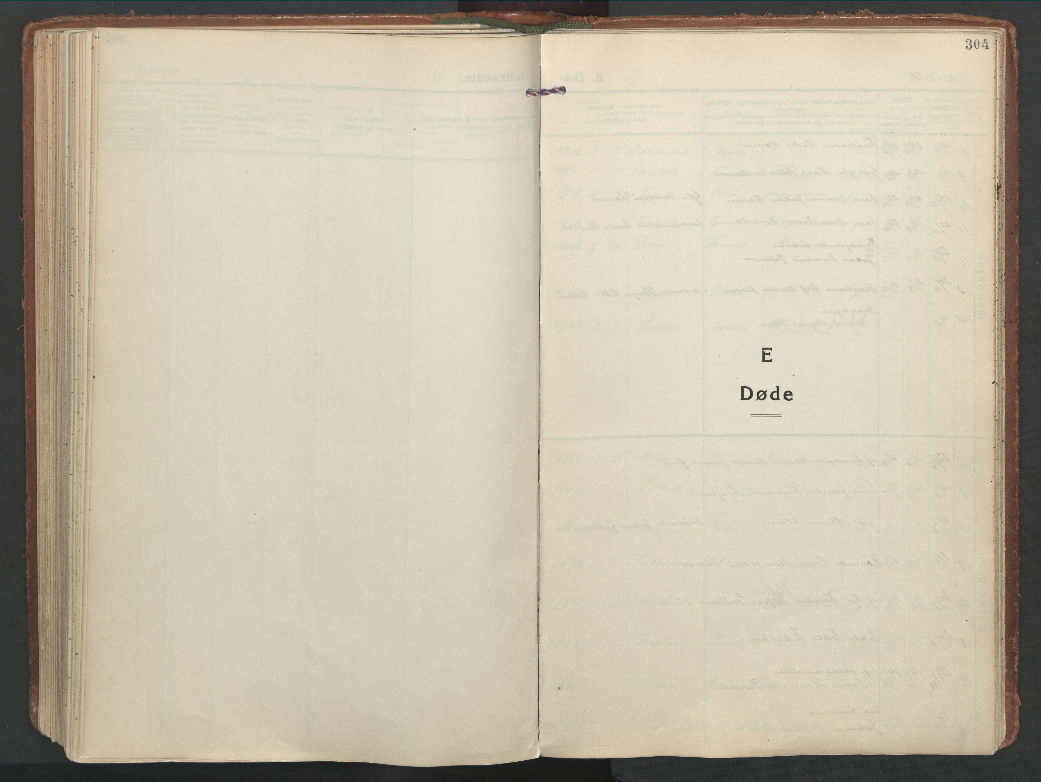 SAT, Ministerialprotokoller, klokkerbøker og fødselsregistre - Nordland, 849/L0699: Ministerialbok nr. 849A10, 1924-1937, s. 304