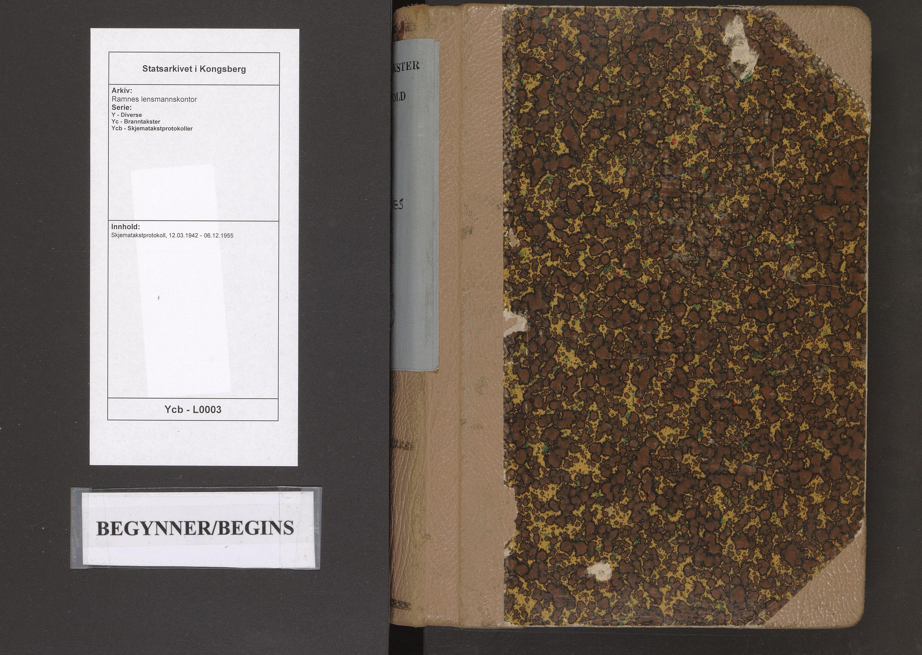 SAKO, Ramnes lensmannskontor, Y/Yc/Ycb/L0003: Skjematakstprotokoll, 1942-1955