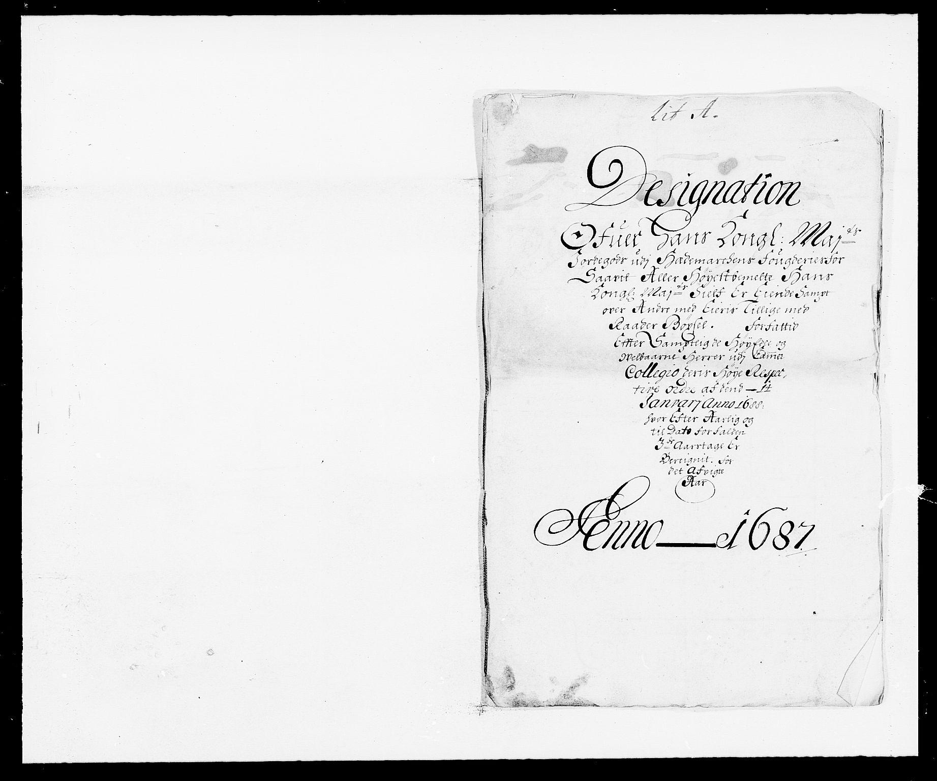 RA, Rentekammeret inntil 1814, Reviderte regnskaper, Fogderegnskap, R16/L1028: Fogderegnskap Hedmark, 1687, s. 26