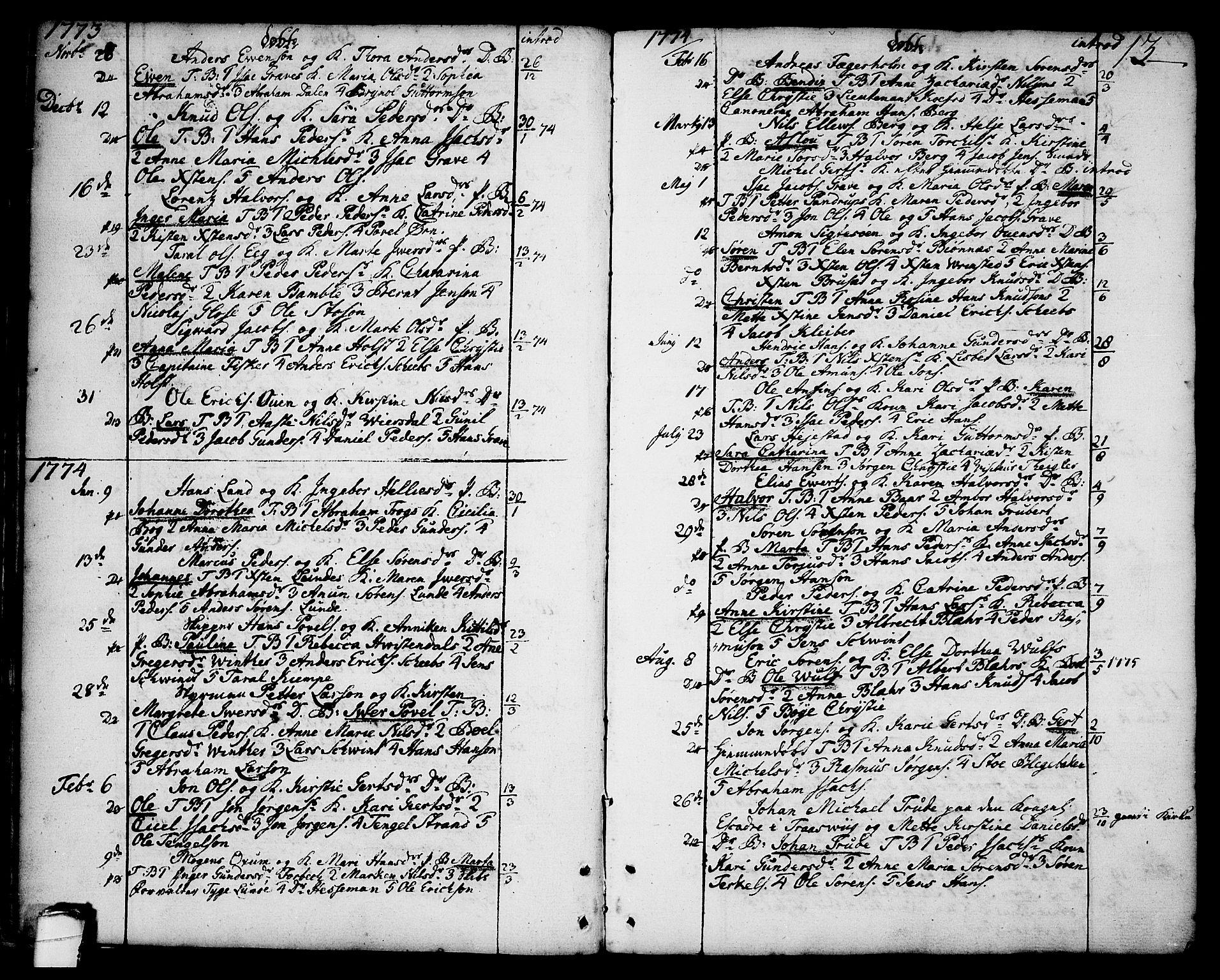 SAKO, Brevik kirkebøker, F/Fa/L0003: Ministerialbok nr. 3, 1764-1814, s. 13