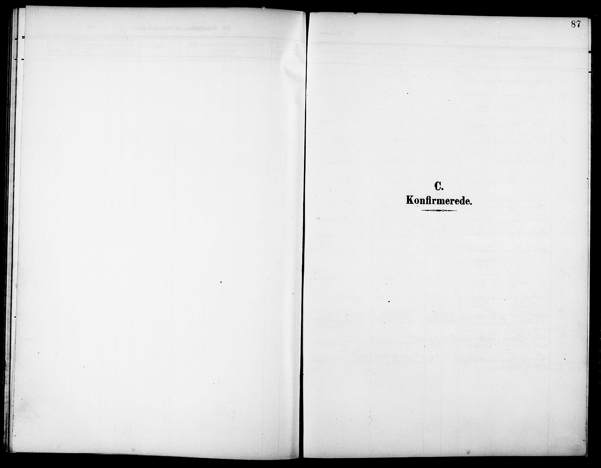 SAT, Ministerialprotokoller, klokkerbøker og fødselsregistre - Nord-Trøndelag, 744/L0424: Klokkerbok nr. 744C03, 1906-1923, s. 87