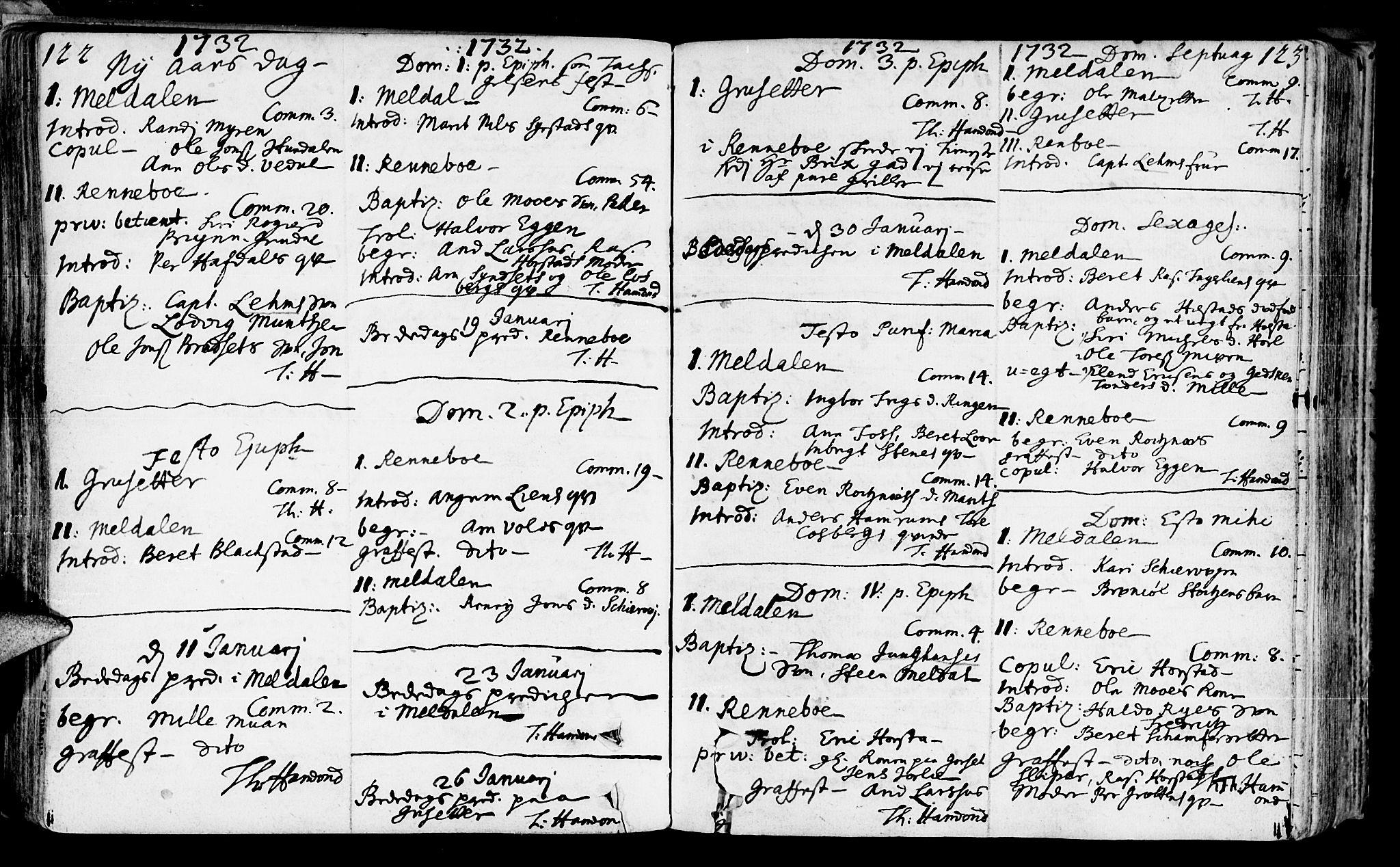 SAT, Ministerialprotokoller, klokkerbøker og fødselsregistre - Sør-Trøndelag, 672/L0850: Ministerialbok nr. 672A03, 1725-1751, s. 122-123