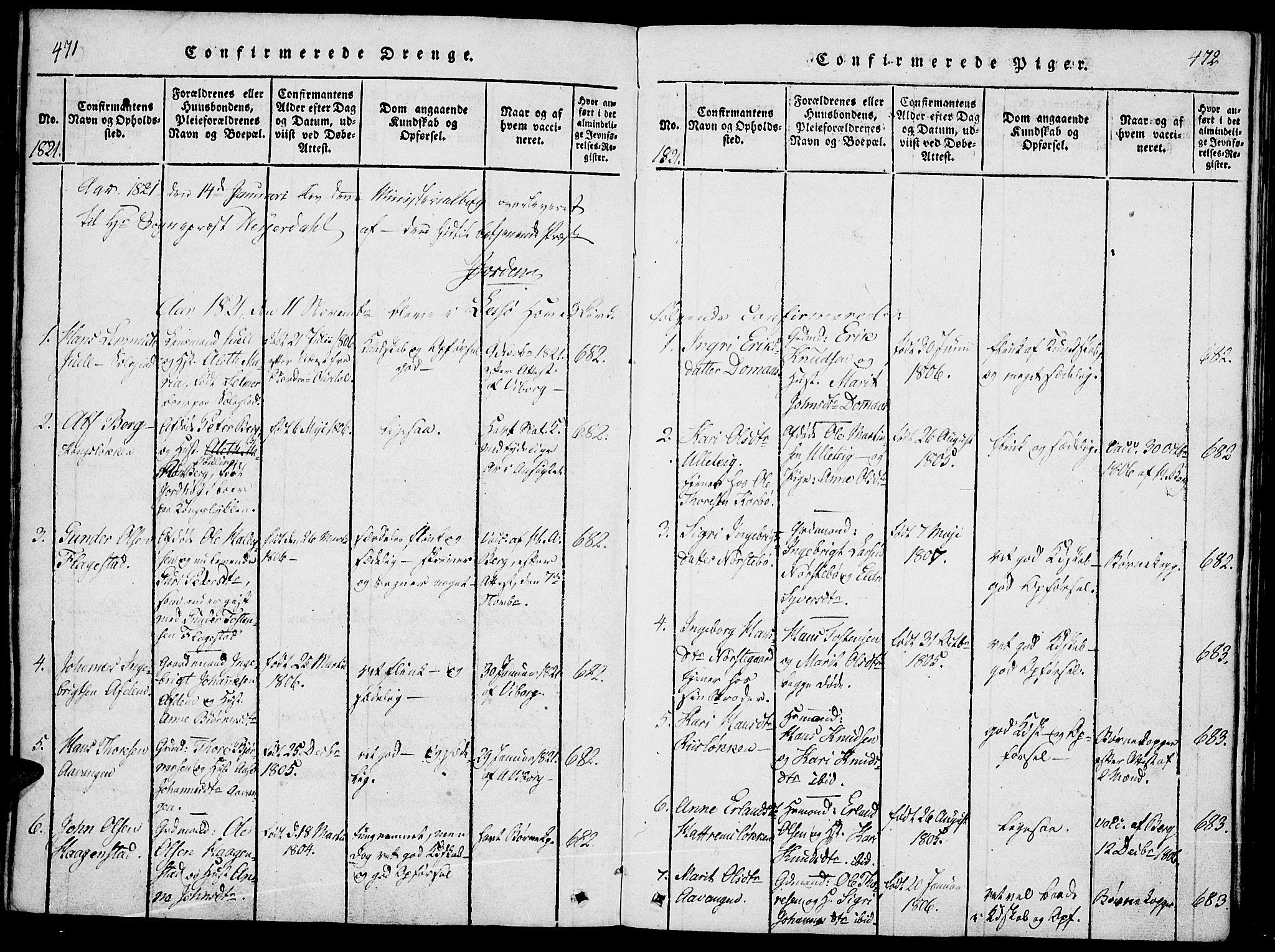 SAH, Lesja prestekontor, Ministerialbok nr. 4, 1820-1829, s. 471-472
