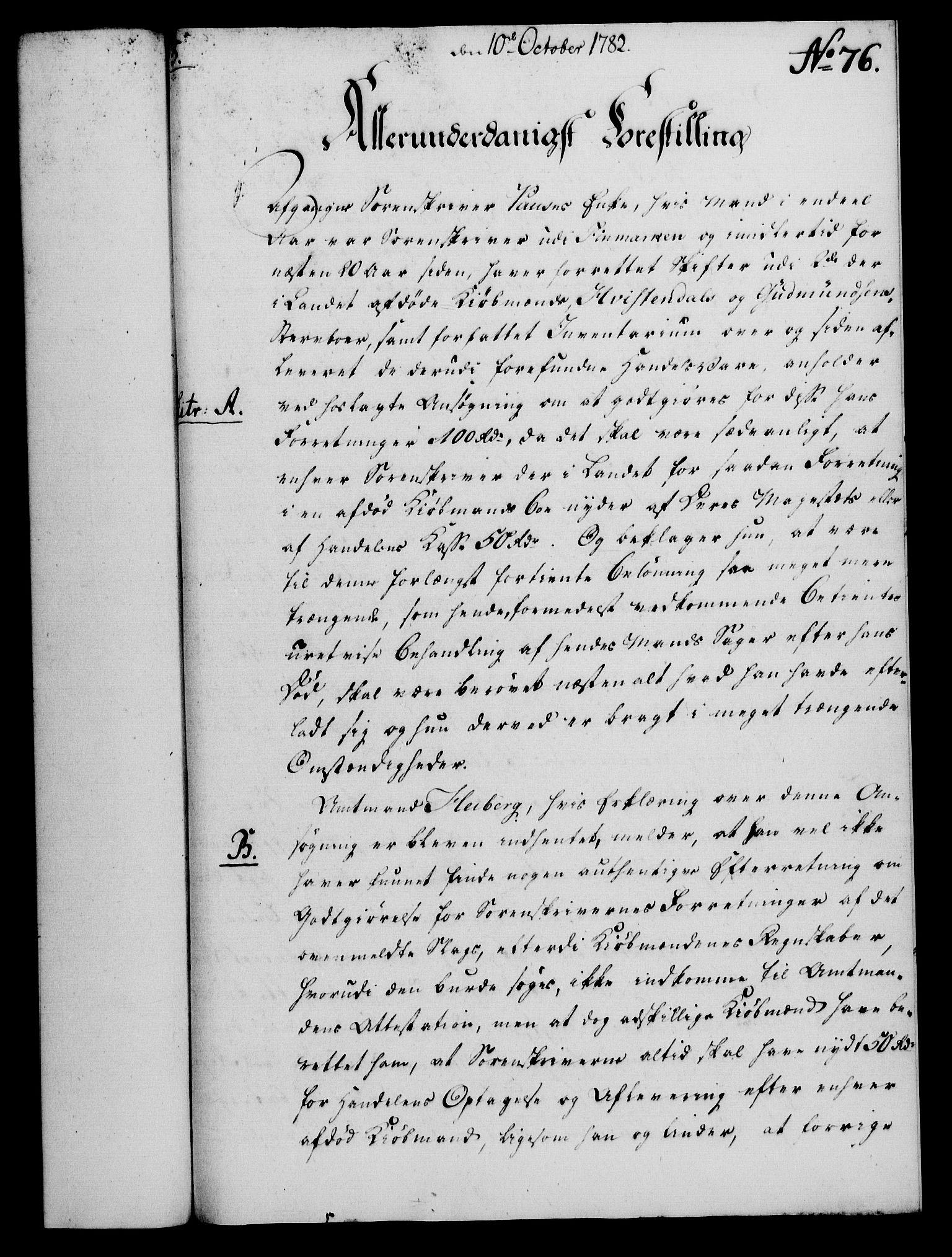 RA, Rentekammeret, Kammerkanselliet, G/Gf/Gfa/L0064: Norsk relasjons- og resolusjonsprotokoll (merket RK 52.64), 1782, s. 594