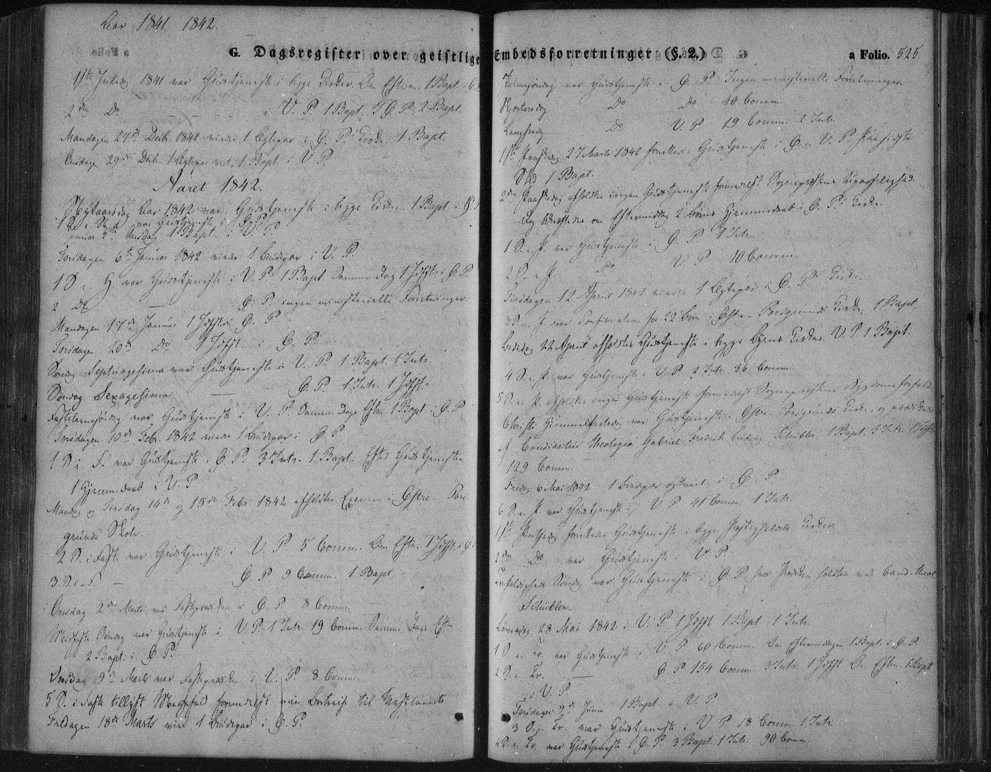 SAKO, Porsgrunn kirkebøker , F/Fa/L0006: Ministerialbok nr. 6, 1841-1857, s. 525