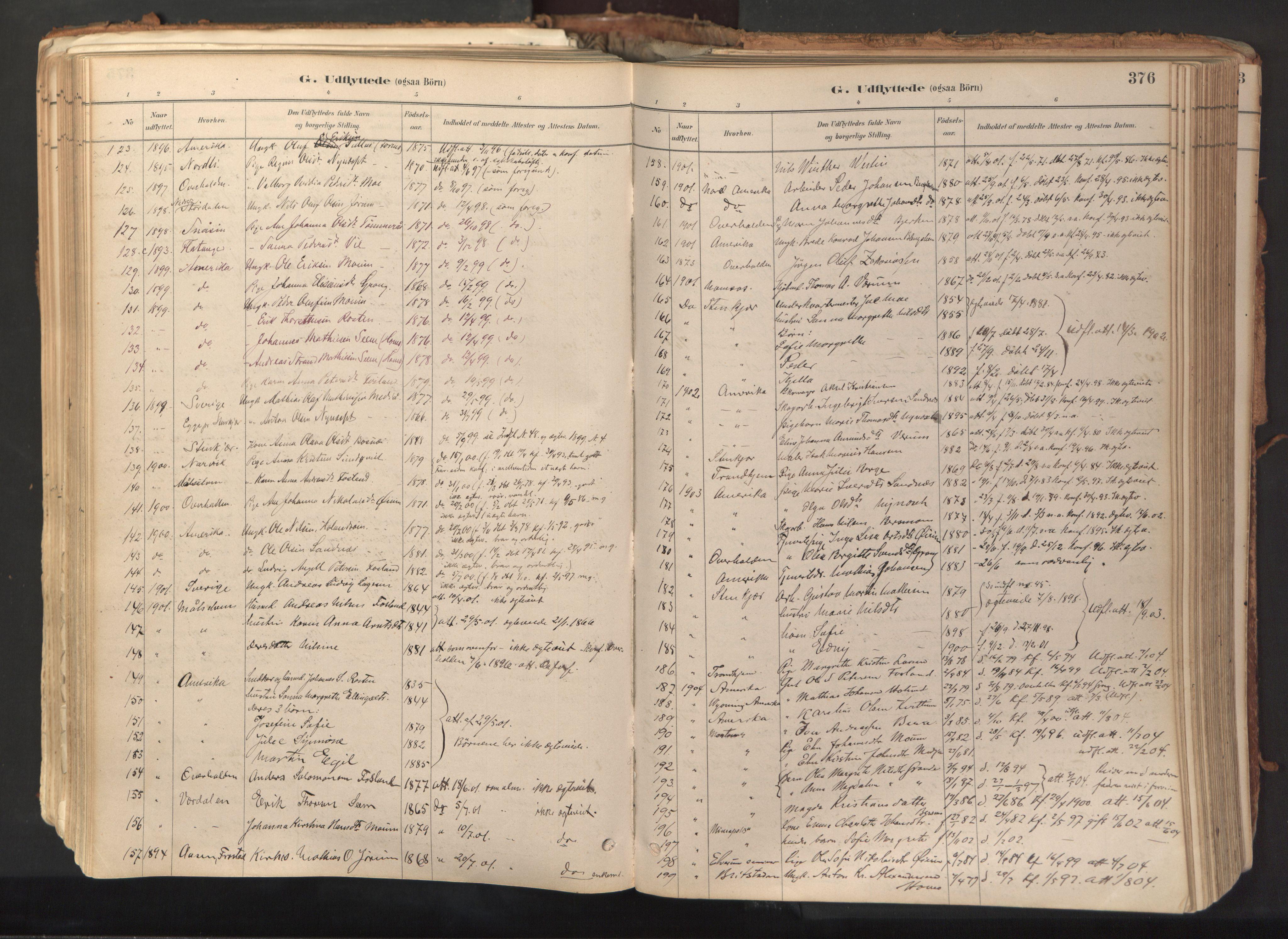 SAT, Ministerialprotokoller, klokkerbøker og fødselsregistre - Nord-Trøndelag, 758/L0519: Ministerialbok nr. 758A04, 1880-1926, s. 376