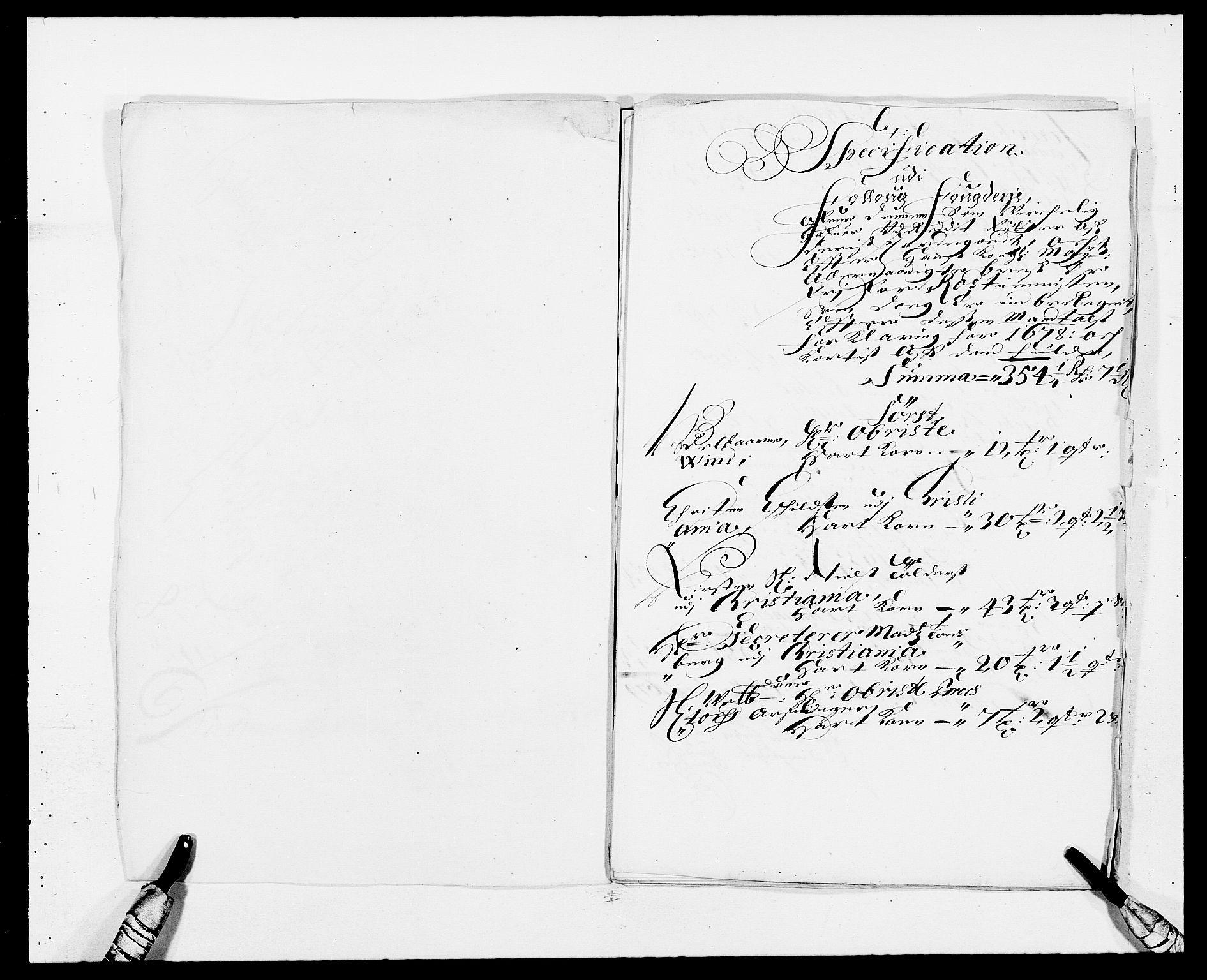 RA, Rentekammeret inntil 1814, Reviderte regnskaper, Fogderegnskap, R09/L0427: Fogderegnskap Follo, 1678, s. 249