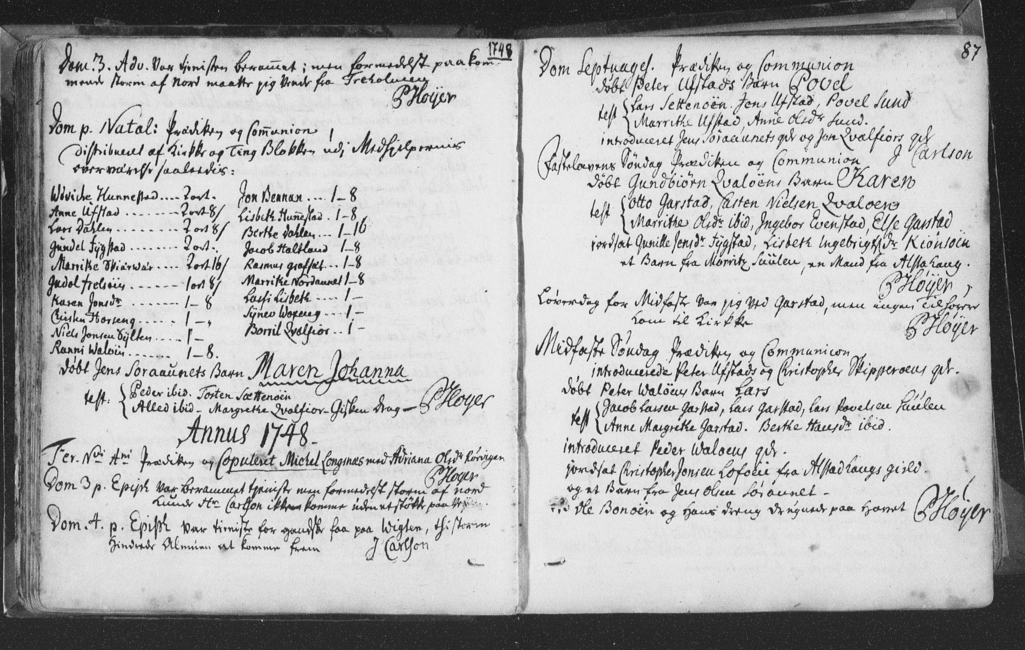 SAT, Ministerialprotokoller, klokkerbøker og fødselsregistre - Nord-Trøndelag, 786/L0685: Ministerialbok nr. 786A01, 1710-1798, s. 87