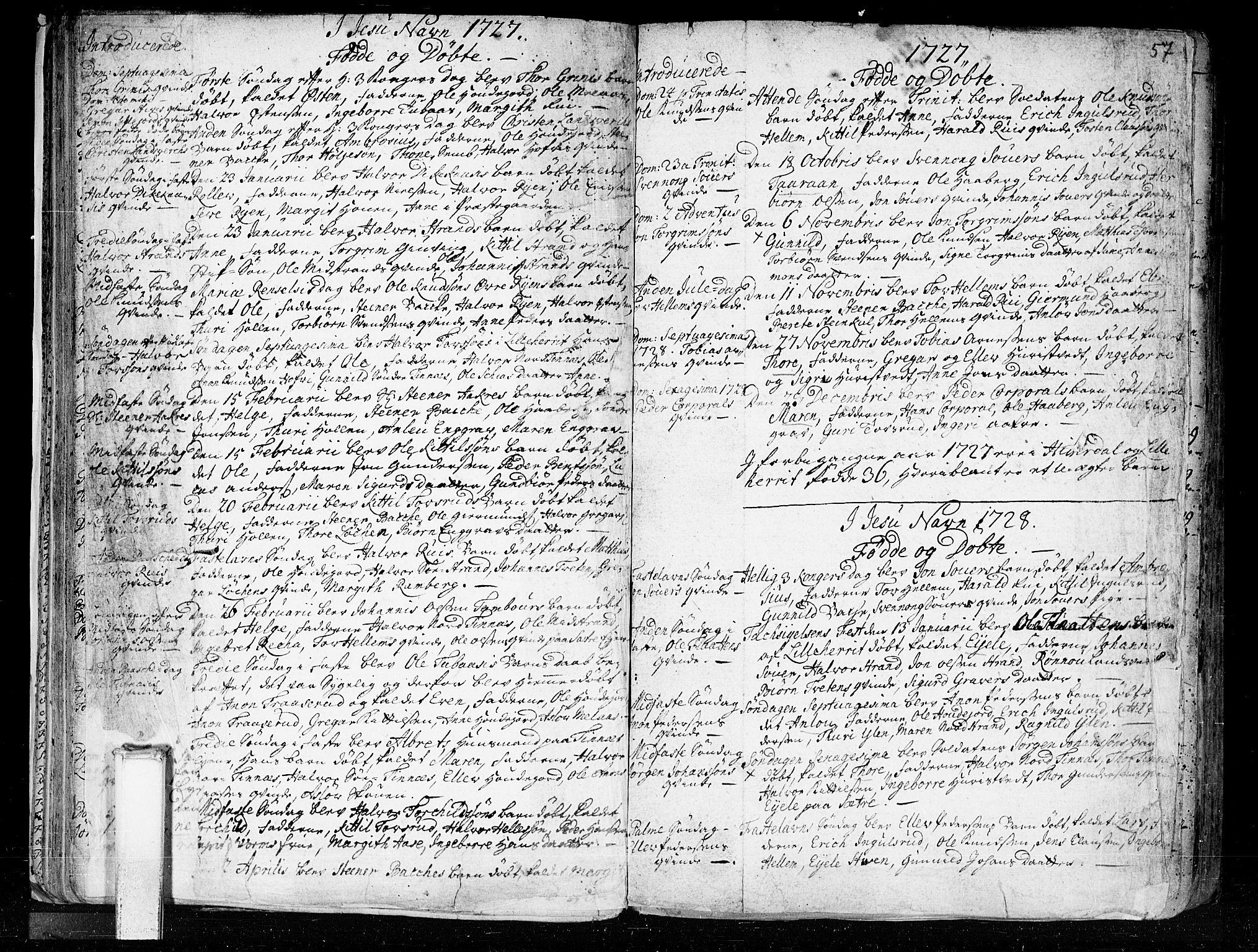SAKO, Heddal kirkebøker, F/Fa/L0003: Ministerialbok nr. I 3, 1723-1783, s. 57