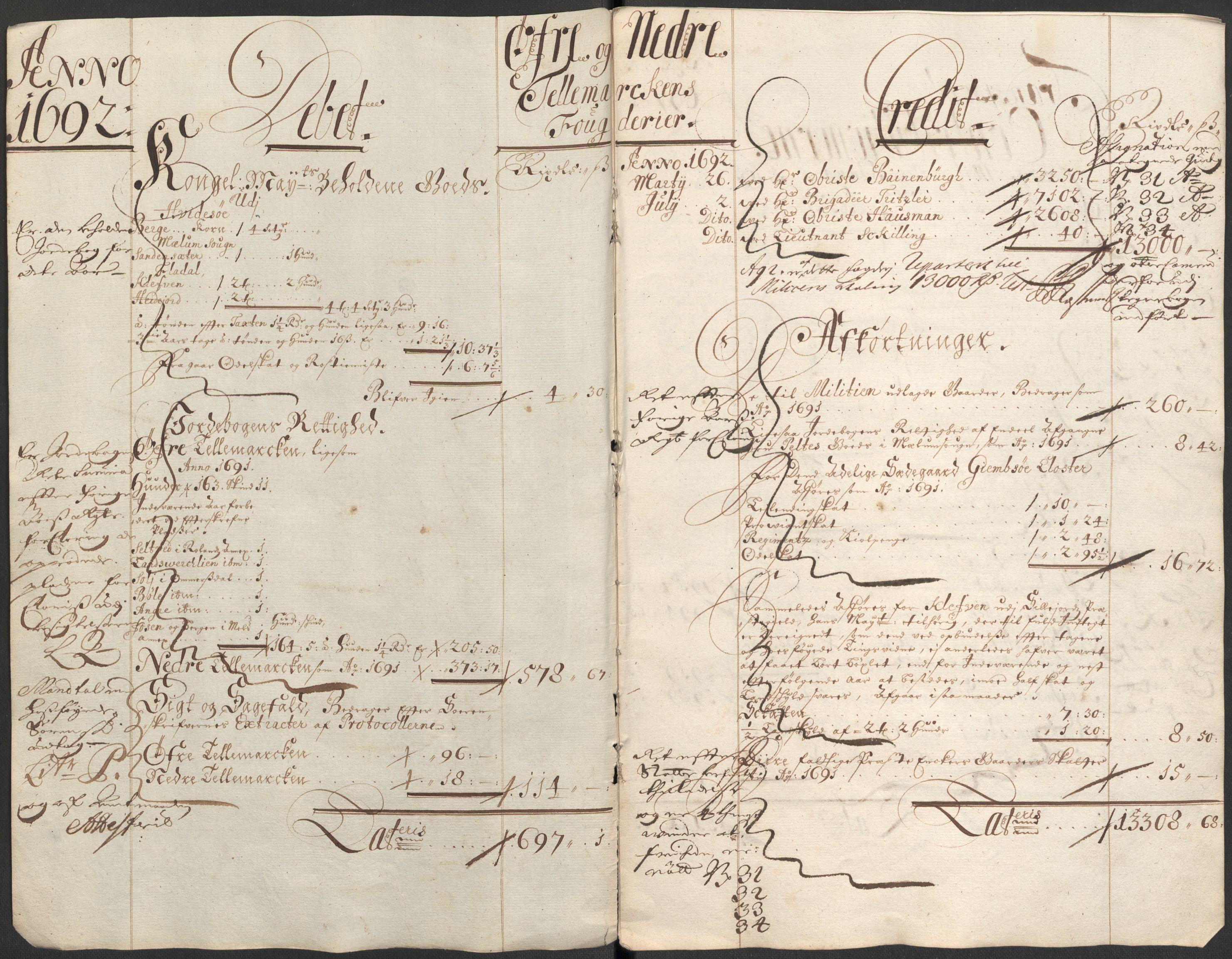 RA, Rentekammeret inntil 1814, Reviderte regnskaper, Fogderegnskap, R35/L2089: Fogderegnskap Øvre og Nedre Telemark, 1690-1692, s. 14
