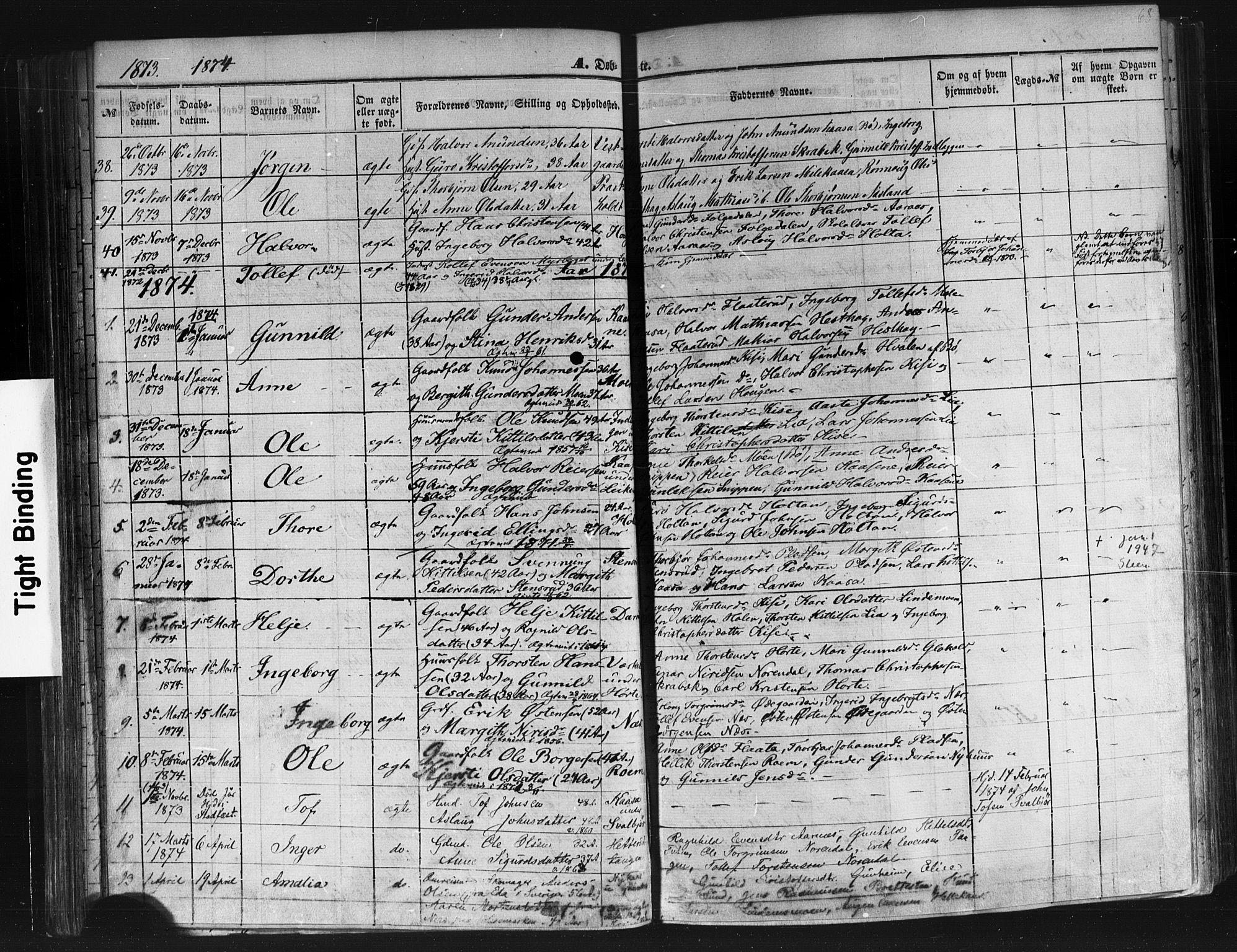 SAKO, Sauherad kirkebøker, F/Fb/L0001: Ministerialbok nr. II 1, 1851-1877, s. 68